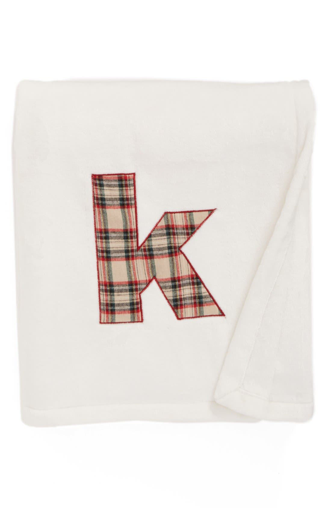 Main Image - Levtex Plaid Initial Plush Throw Blanket