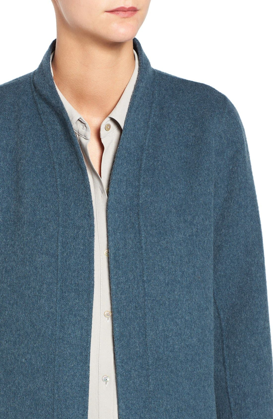 Alternate Image 4  - Eileen Fisher Double Face Brushed Wool Blend Kimono Jacket