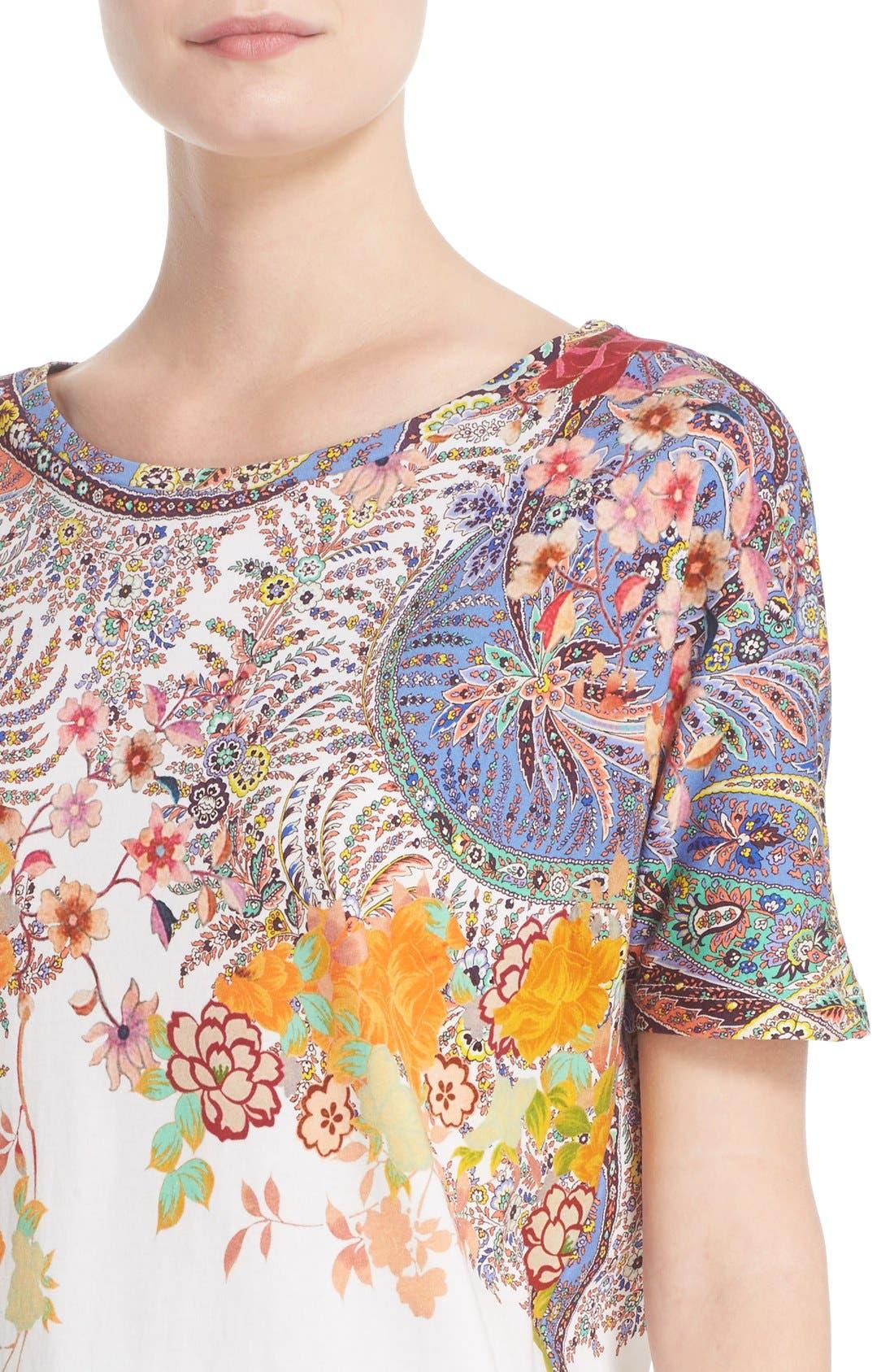 Alternate Image 6  - Etro Floral & Paisley Print Cotton Tee