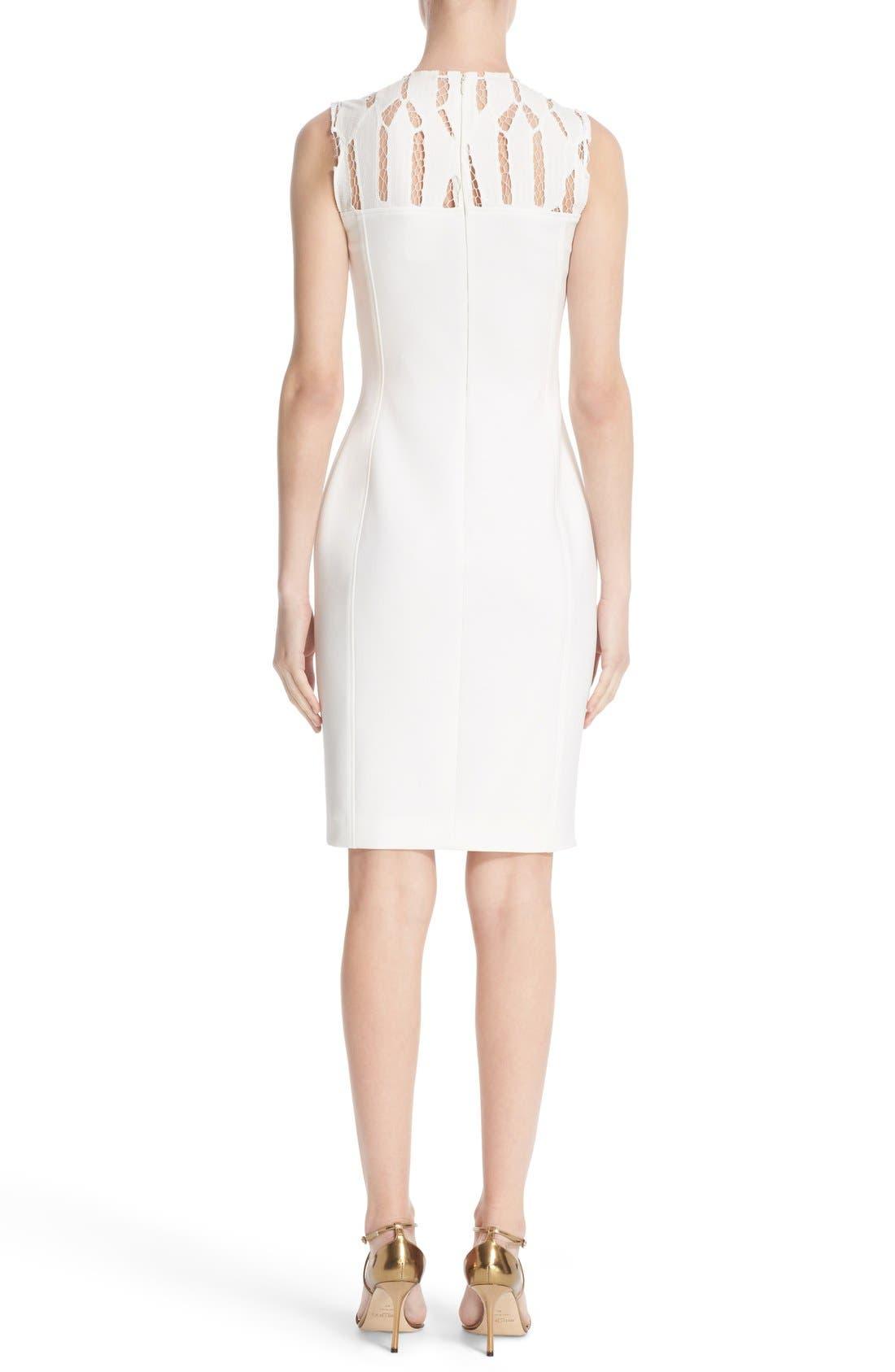 Alternate Image 2  - Versace Cutout Bodice Stretch Cady Sheath Dress