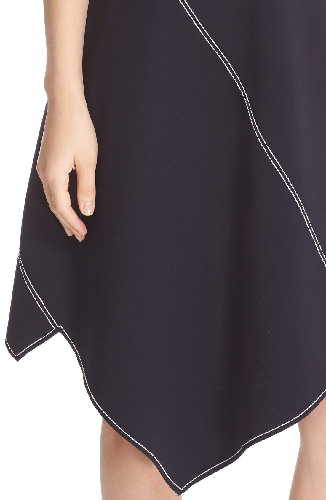 Alternate Image 6  - Stella McCartney Topstitch Asymmetrical Dress
