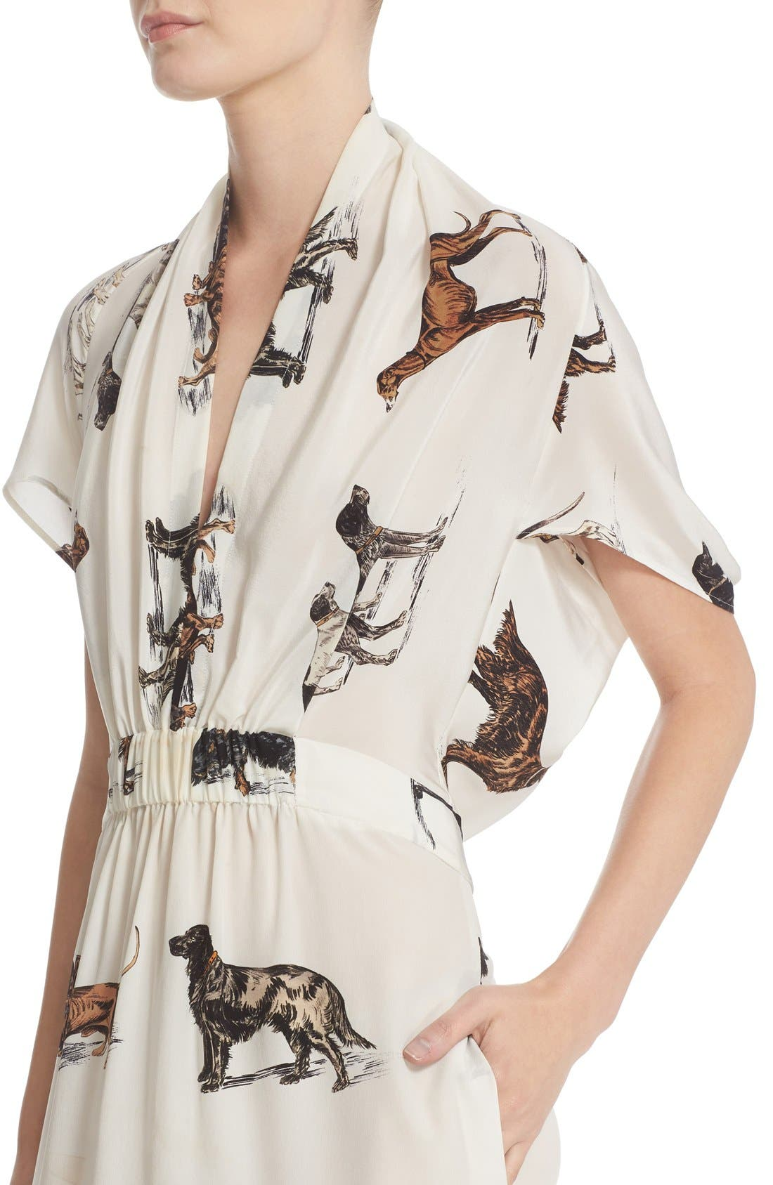 Alternate Image 6  - Stella McCartney Dog Print Silk Dress