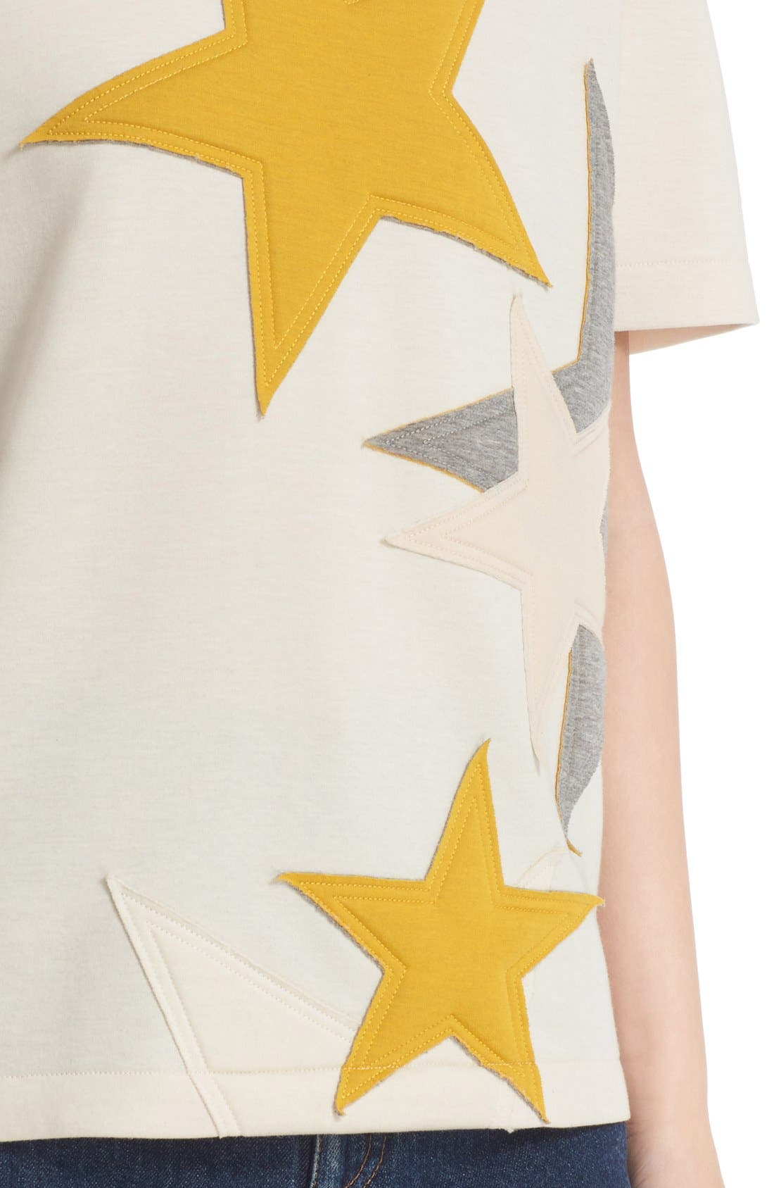 Alternate Image 6  - Stella McCartney Star Appliqué Jersey Tee
