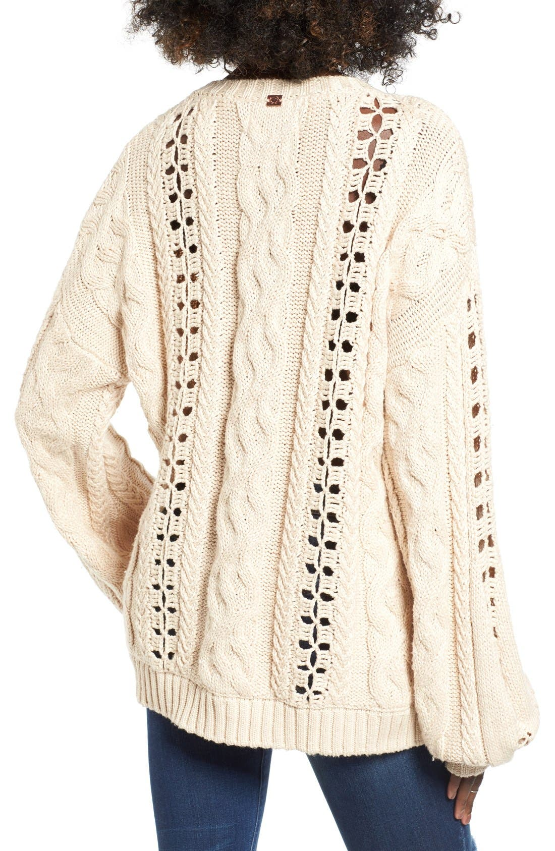 Alternate Image 2  - For Love & Lemons Wythe Cable Knit Sweater
