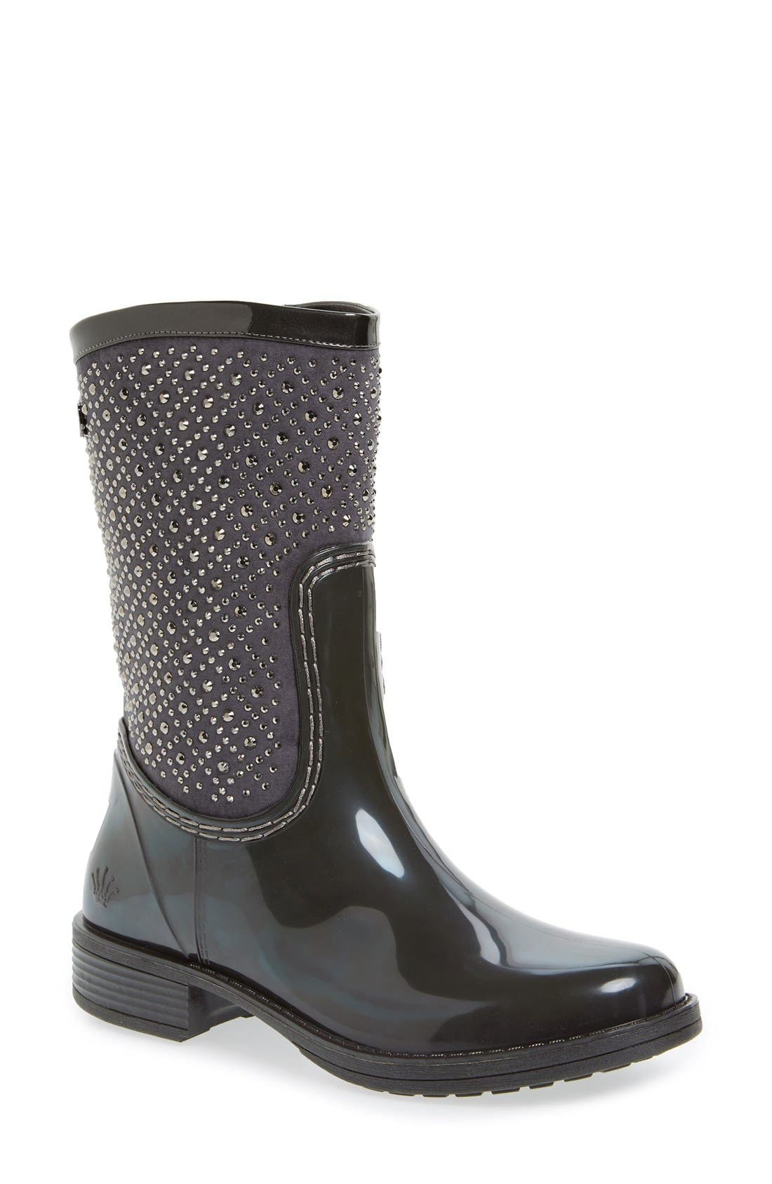 POSH WELLIES 'Cerussite' Crystal Embellished Rain Boot
