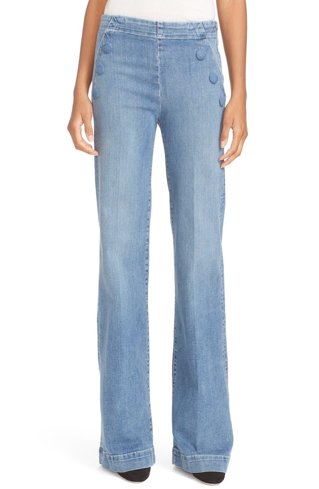 FRAME High Waist Flare Sailor Jeans