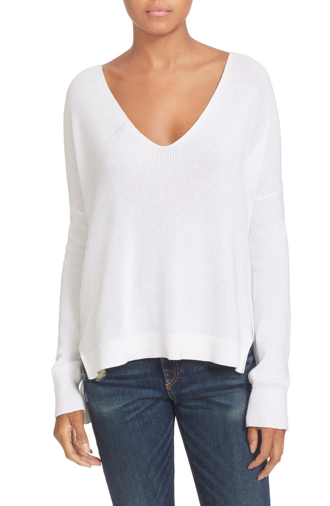 Main Image - rag & bone/JEAN Taylor Washed Cotton Sweater