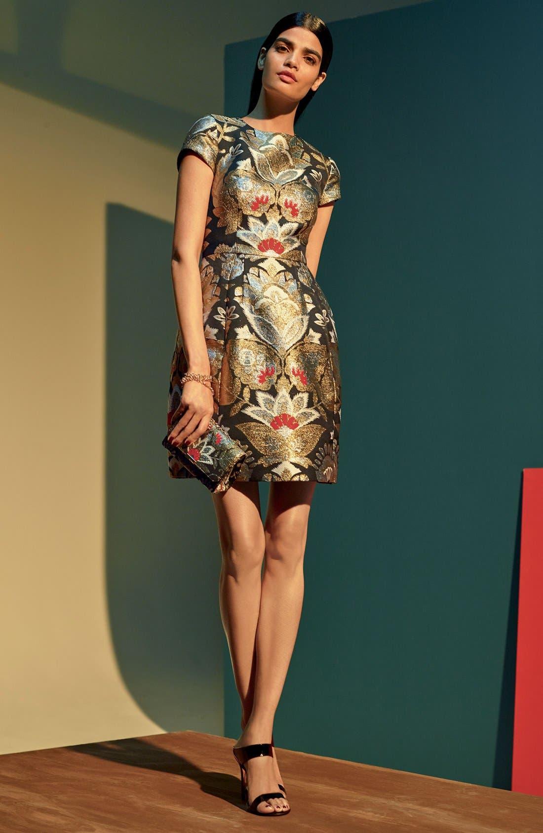 Alternate Image 6  - Ted Baker London Imoen Opulent Orient Jacquard Fit & Flare Dress