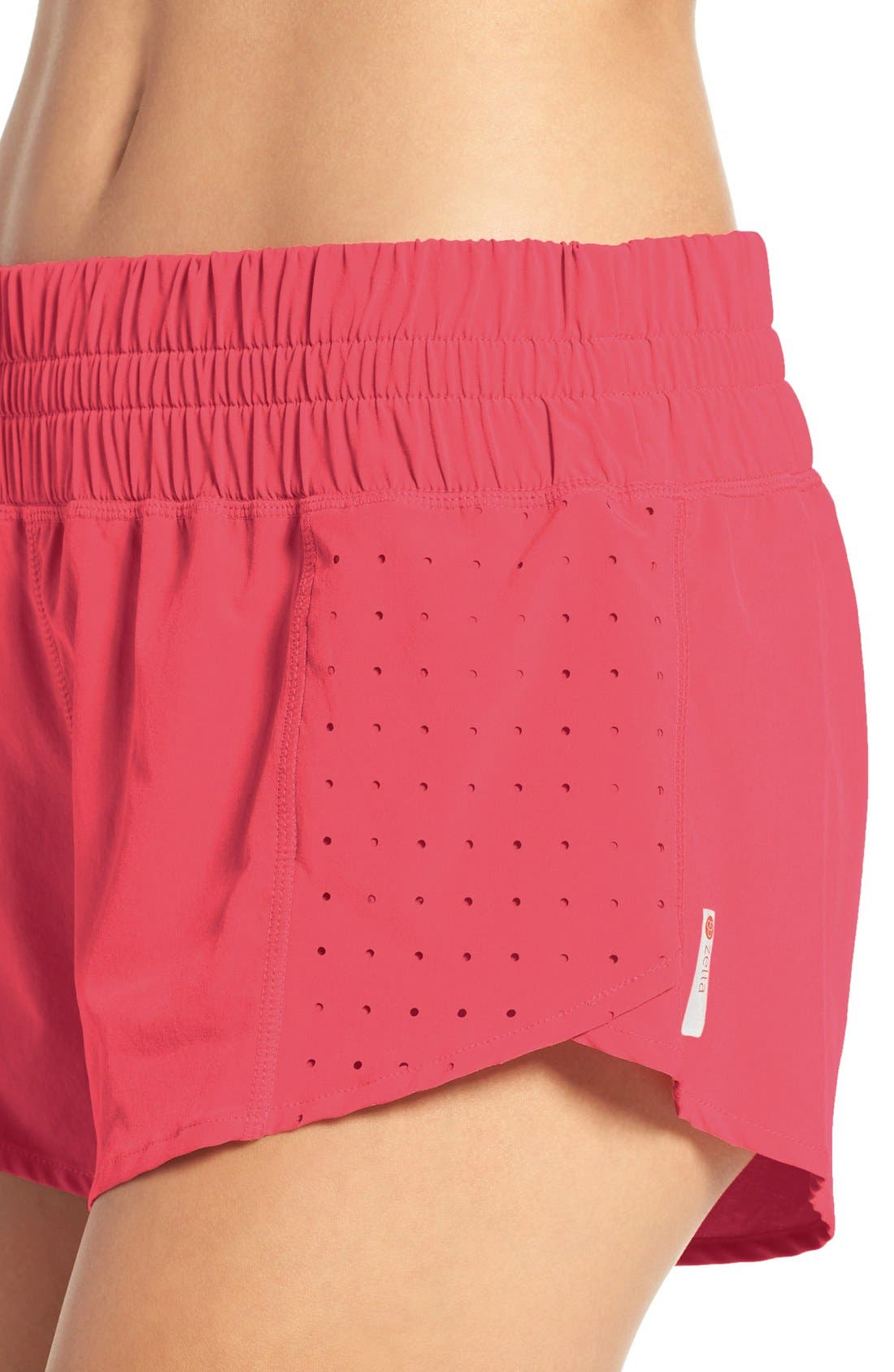 Alternate Image 4  - Zella 'Daylight' Perforated Shorts