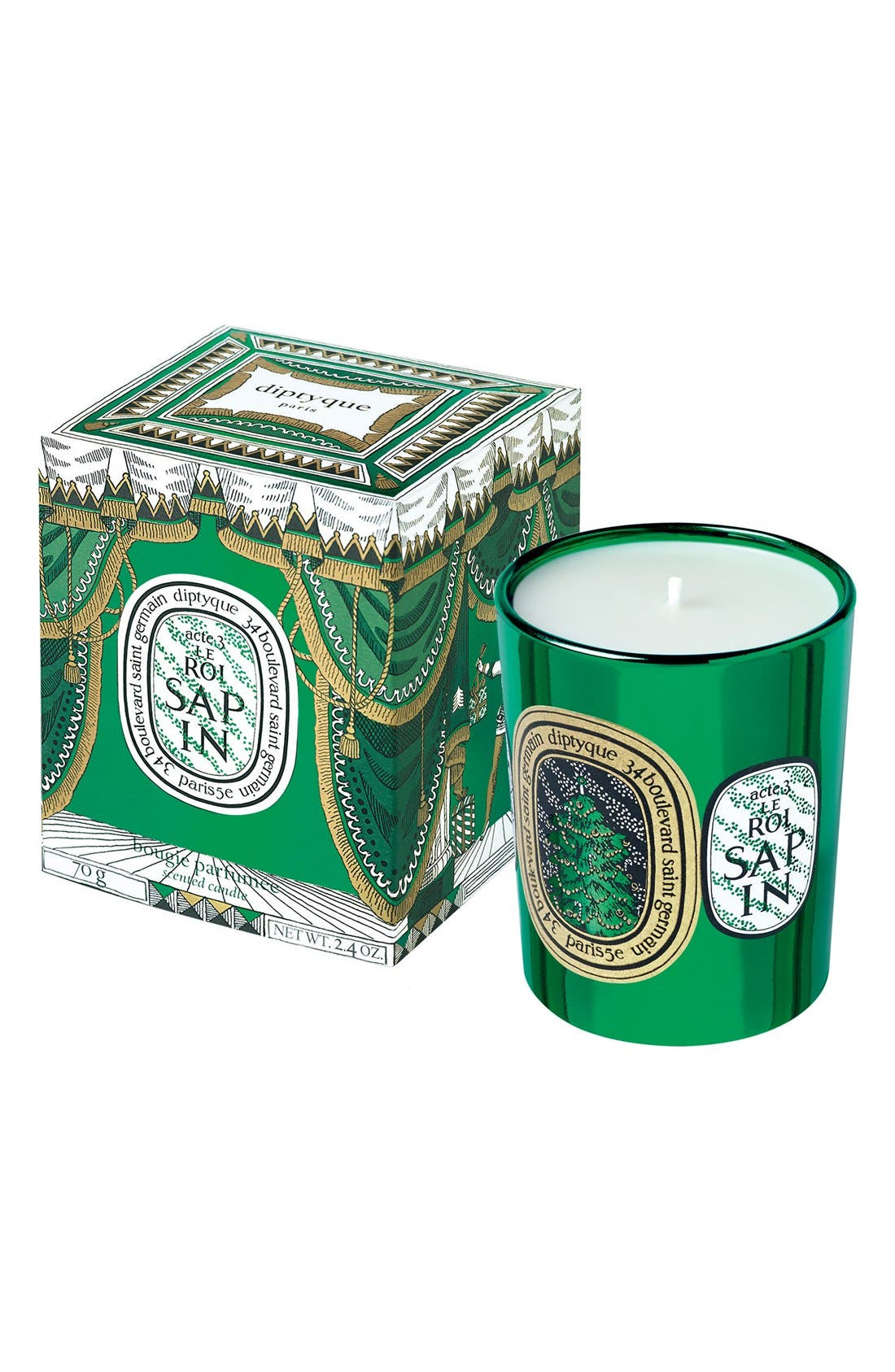 Main Image - diptyque A Night at diptyque Act 3 Le Roi Sapin/The Festive Fir Tree Mini Candle (Limited Edition)