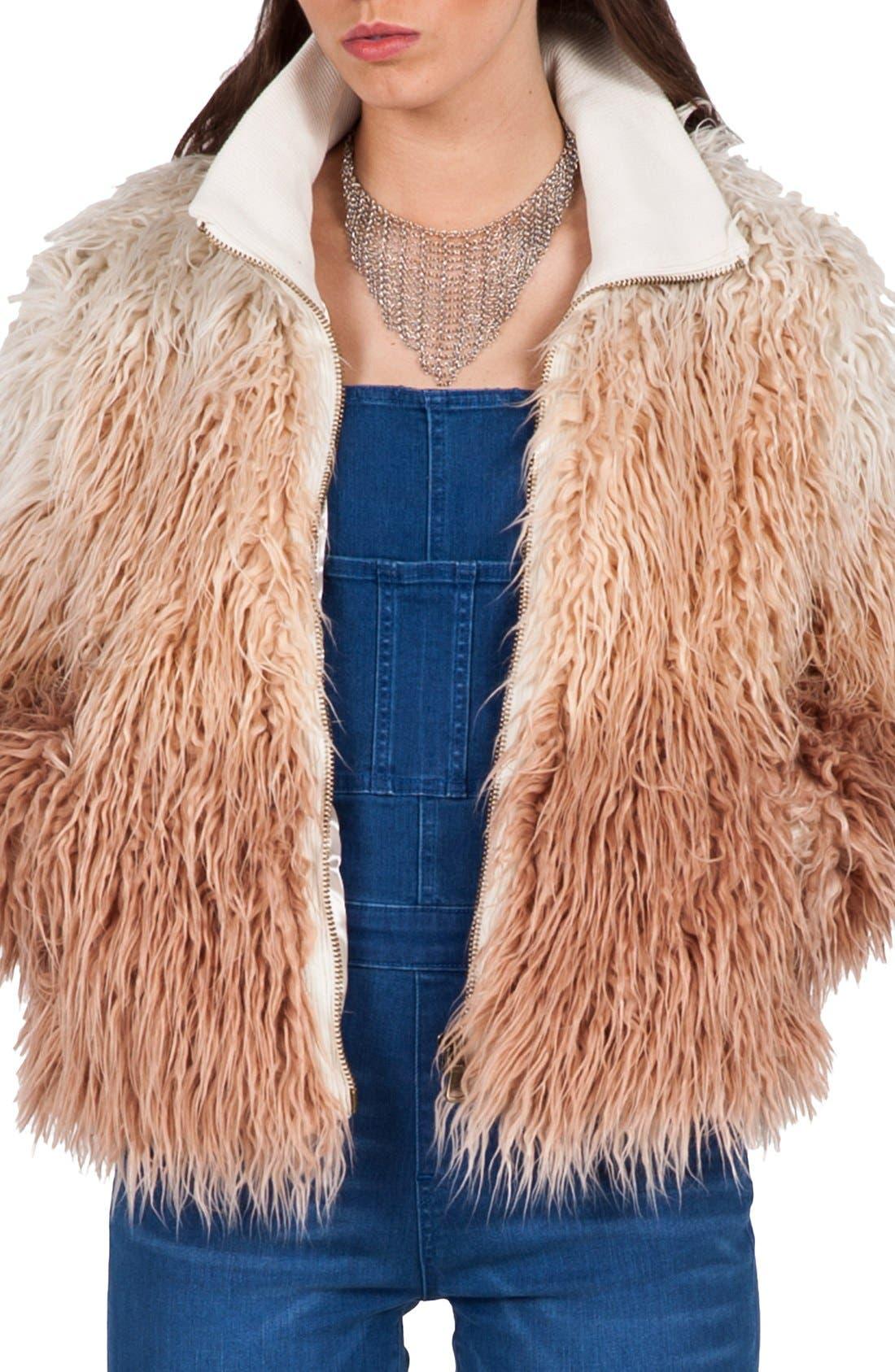 Alternate Image 1 Selected - Volcom 'Furrankie' Faux Fur Jacket