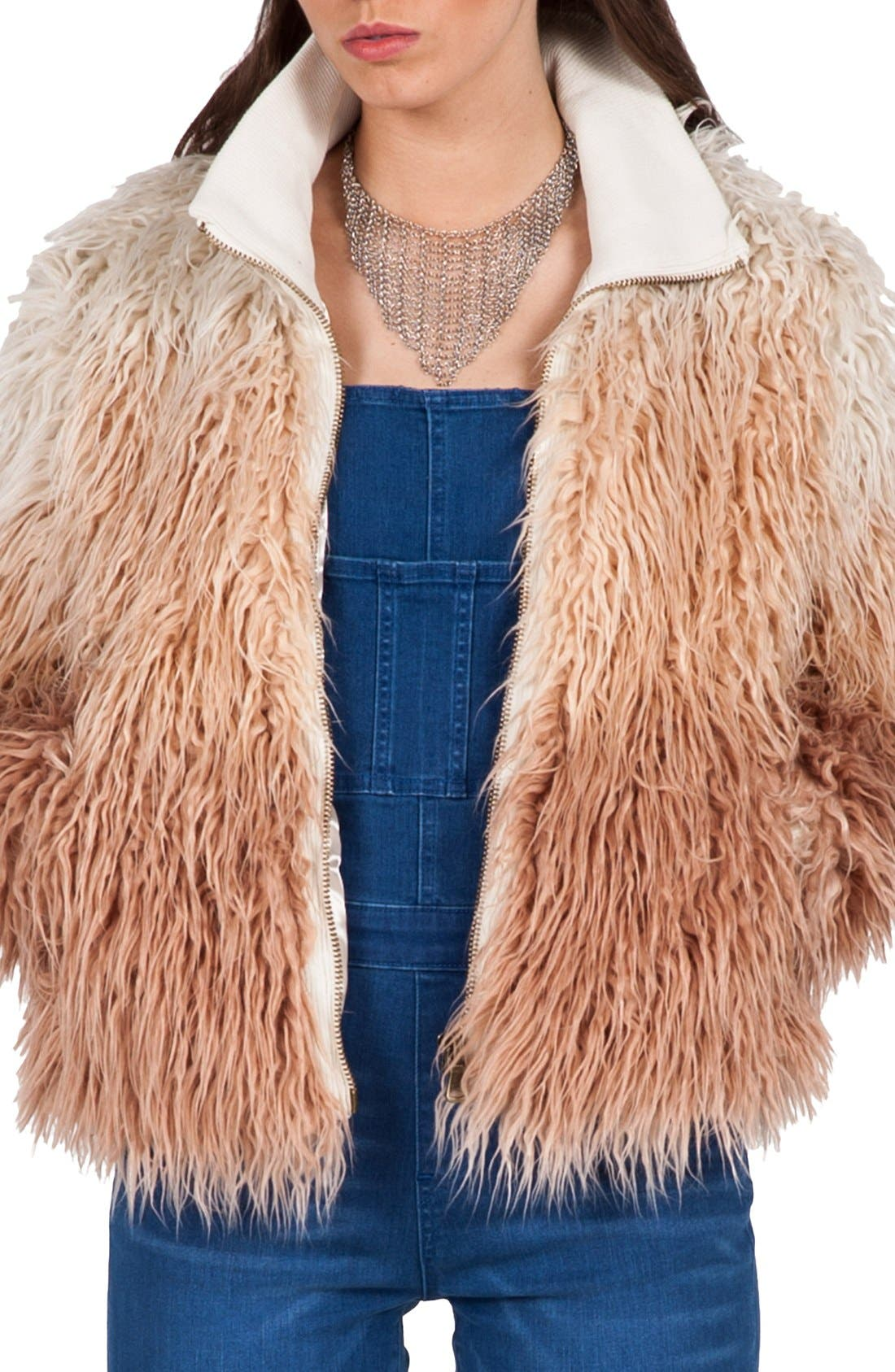 Main Image - Volcom 'Furrankie' Faux Fur Jacket