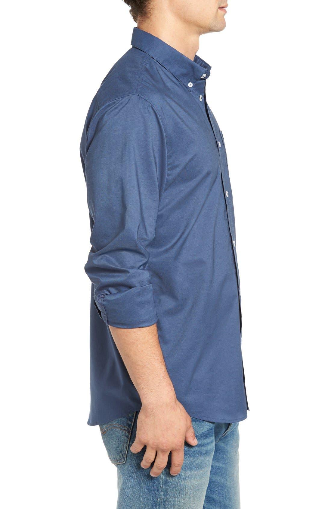 Alternate Image 3  - RVCA 'That'll Do' Slim Fit Oxford Shirt
