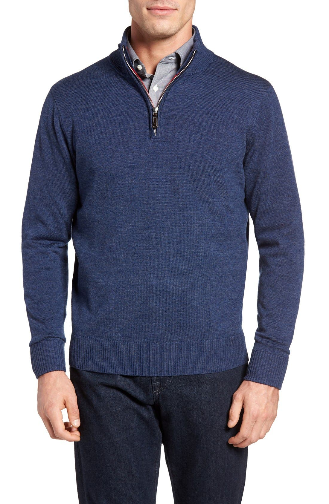 TailorByrd Nisqually Quarter Zip Wool Sweater