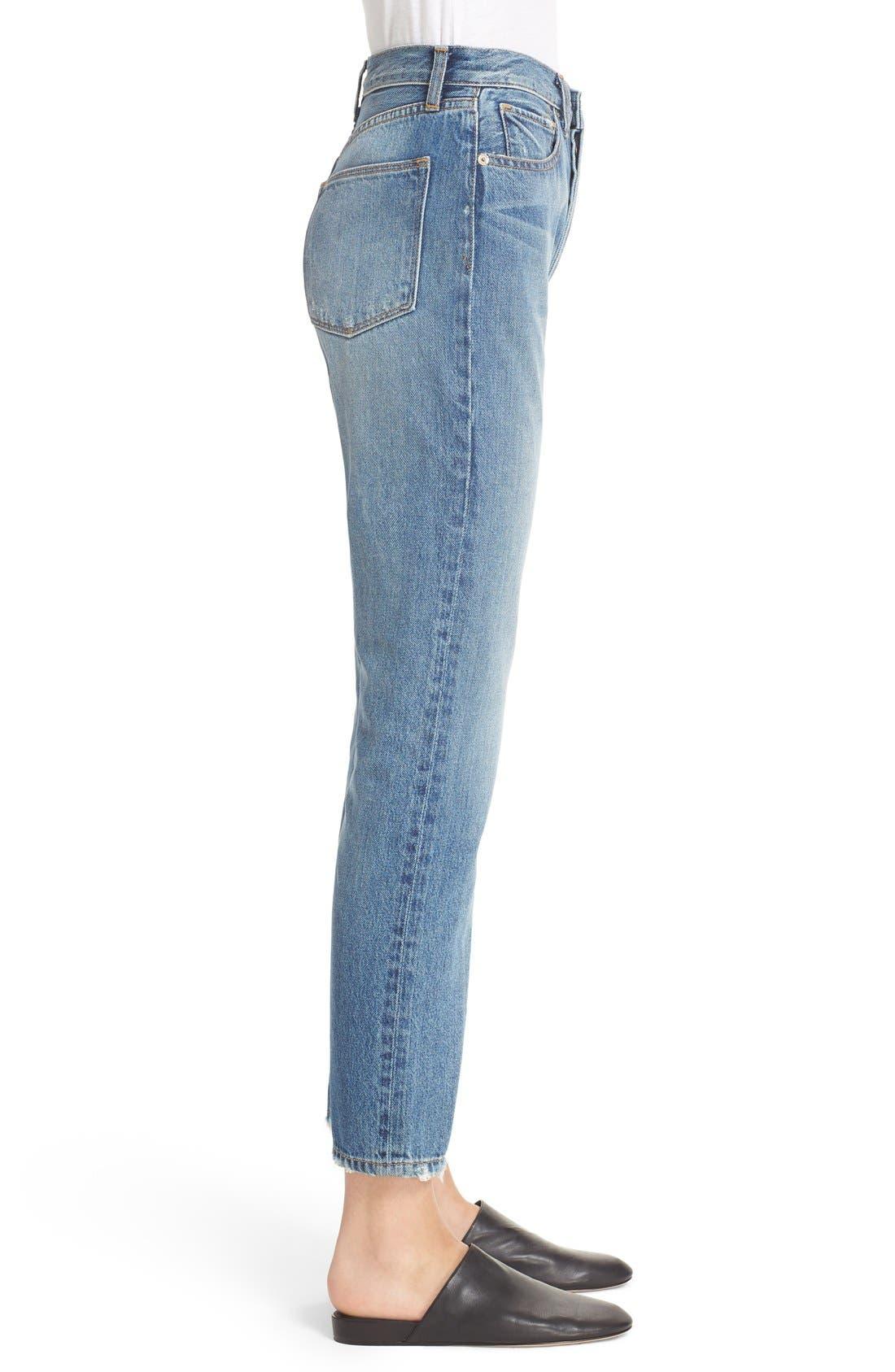 Alternate Image 3  - Vince Vintage Straight Leg Crop Jeans (Calico)