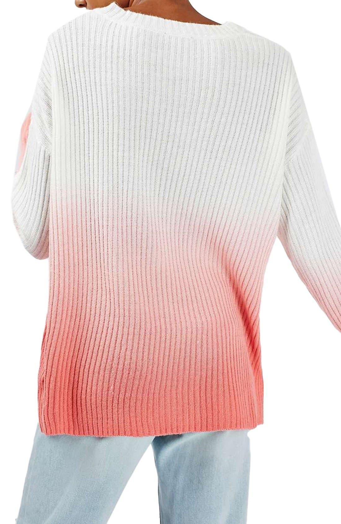 Alternate Image 3  - Topshop Dip Dye V-Neck Sweater