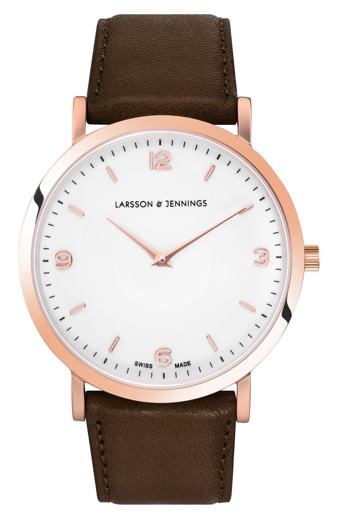 Larsson & Jennings Lugano Leather Strap Watch, 38mm