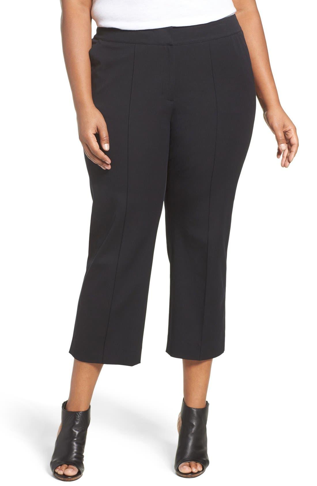 Sejour Wide Leg Crop Pants (Plus Size)