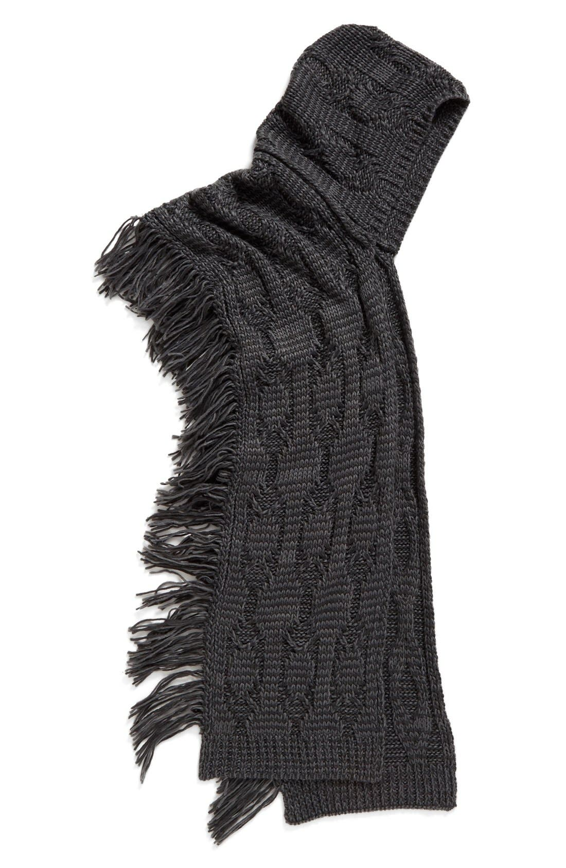 Alternate Image 2  - Free People Hooded Cable Knit Wrap