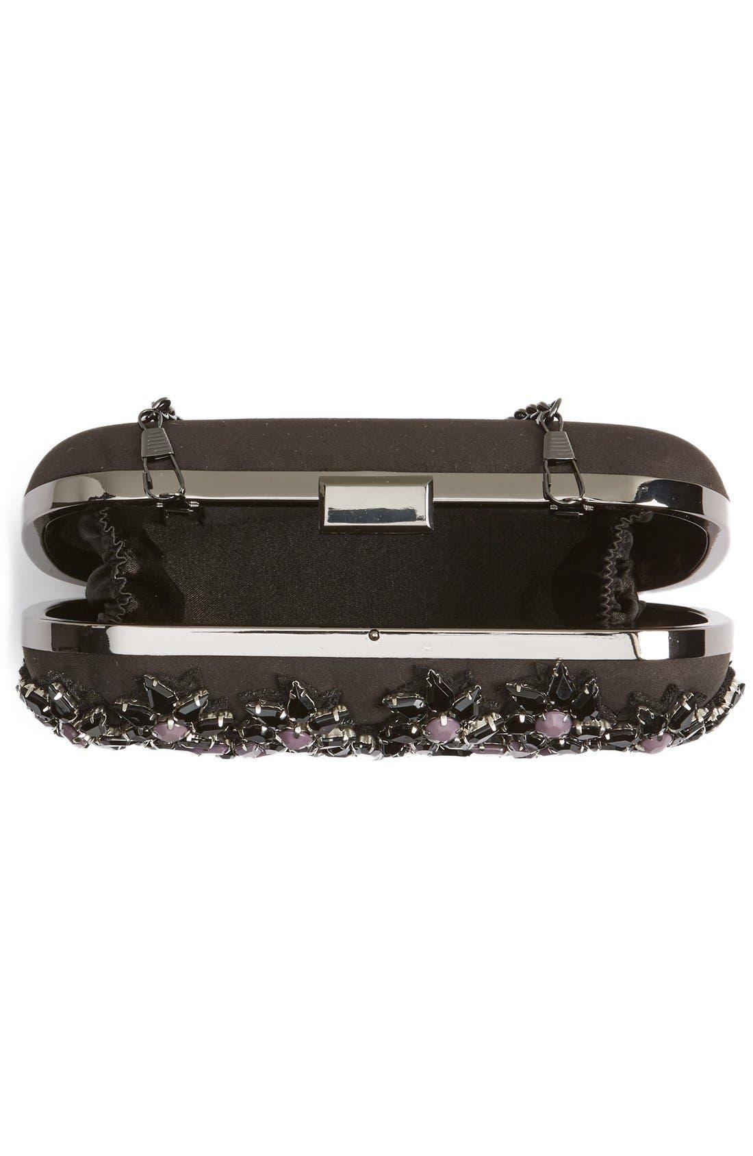 Alternate Image 3  - Natasha Couture Crystal Floral Box Clutch