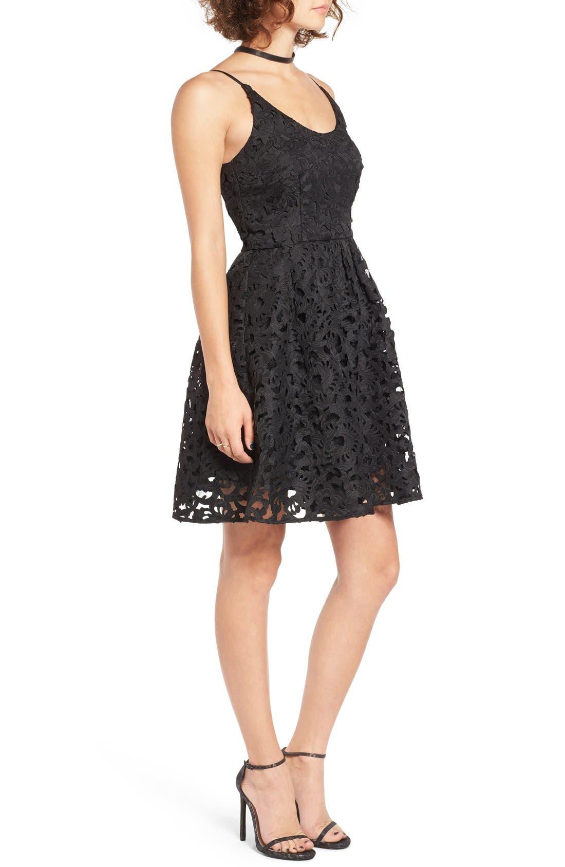 Alternate Image 3  - a. drea Laser Cut Lace Skater Dress