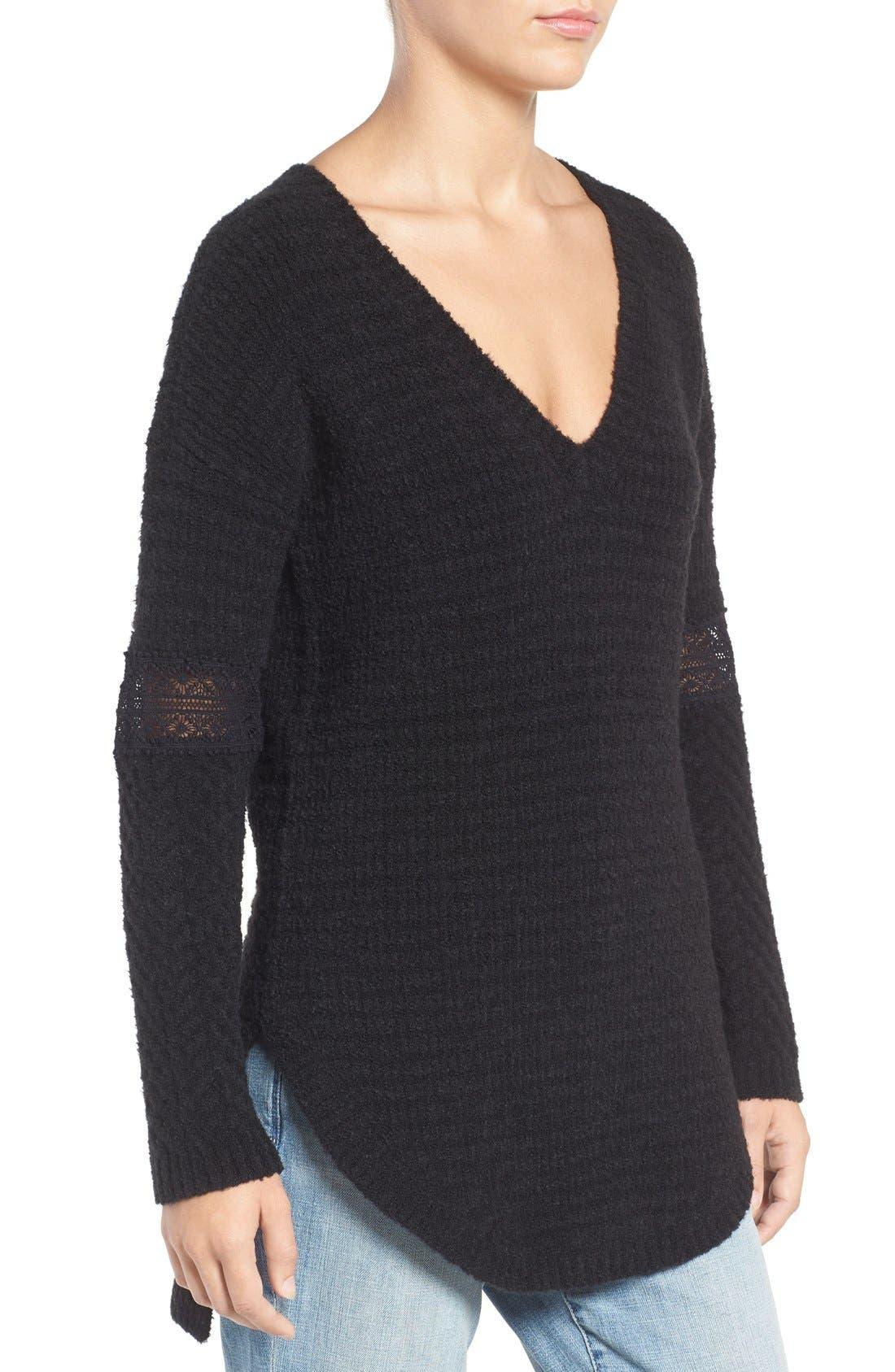 Alternate Image 3  - Hinge Lace Inset V-Neck Sweater