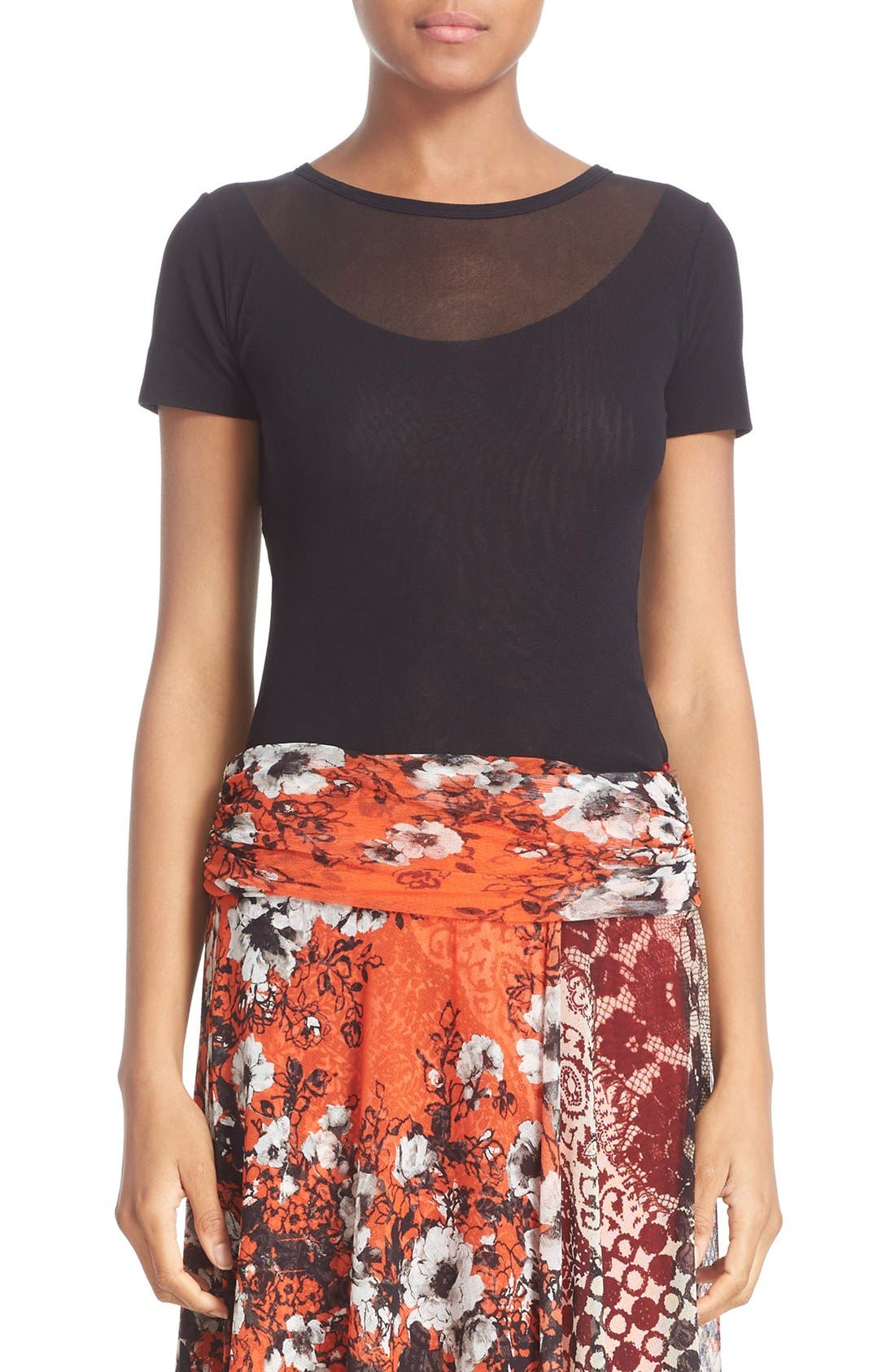 Fuzzi Double Layer Tulle Top
