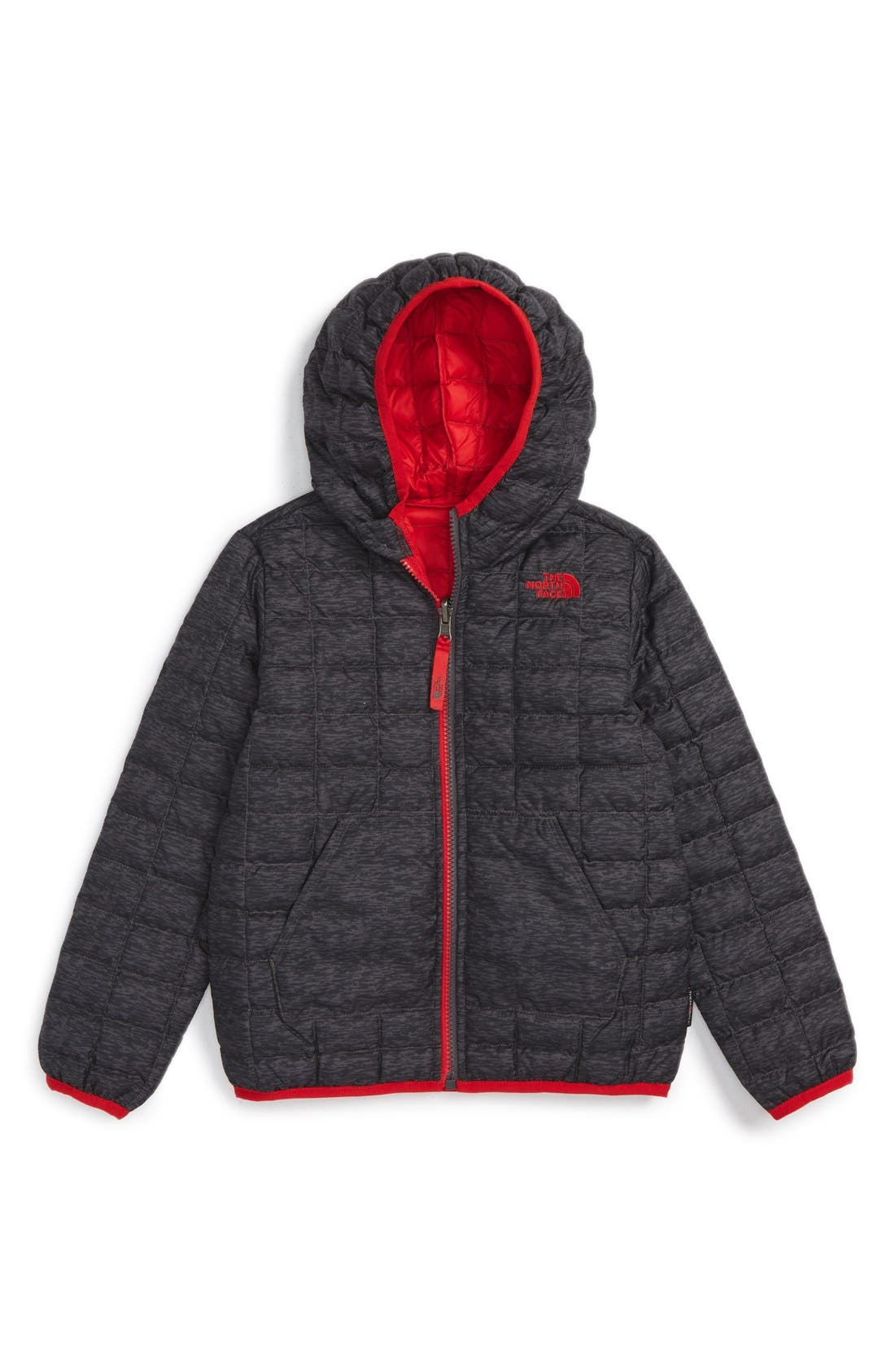 Main Image - The North Face ThermoBall™ PrimaLoft® Reversible Hooded Jacket (Toddler Boys & Little Boys)
