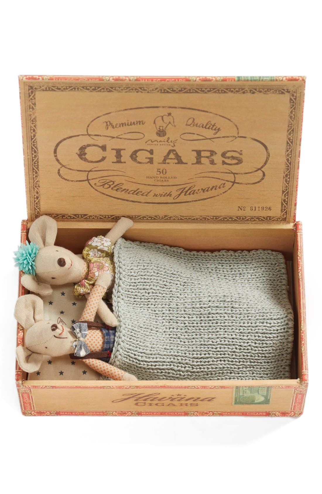 Maileg Mom & Dad Stuffed Toy Mice in a Box