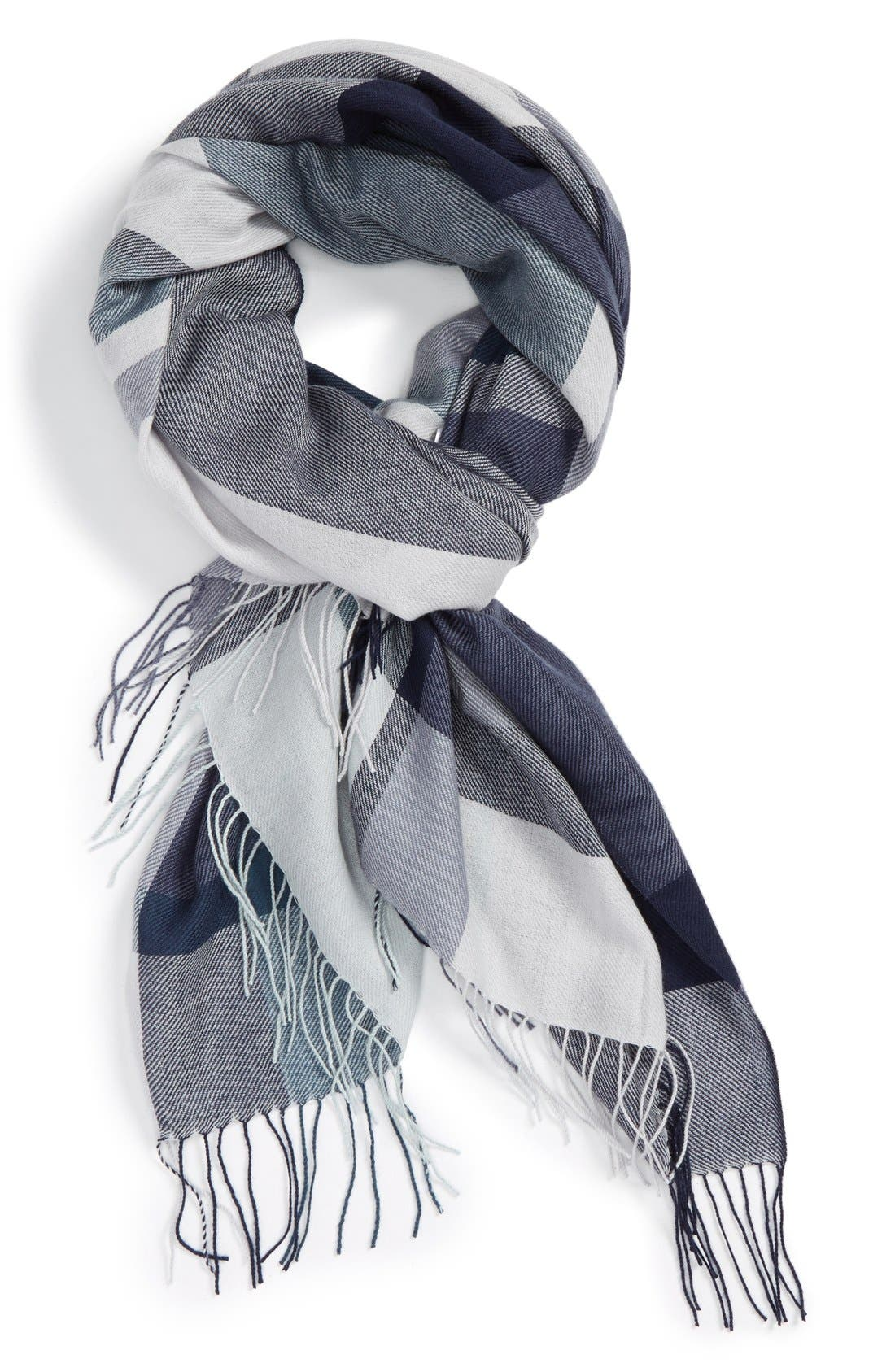Alternate Image 1 Selected - Nordstrom Academy Check Wool & Cashmere Scarf