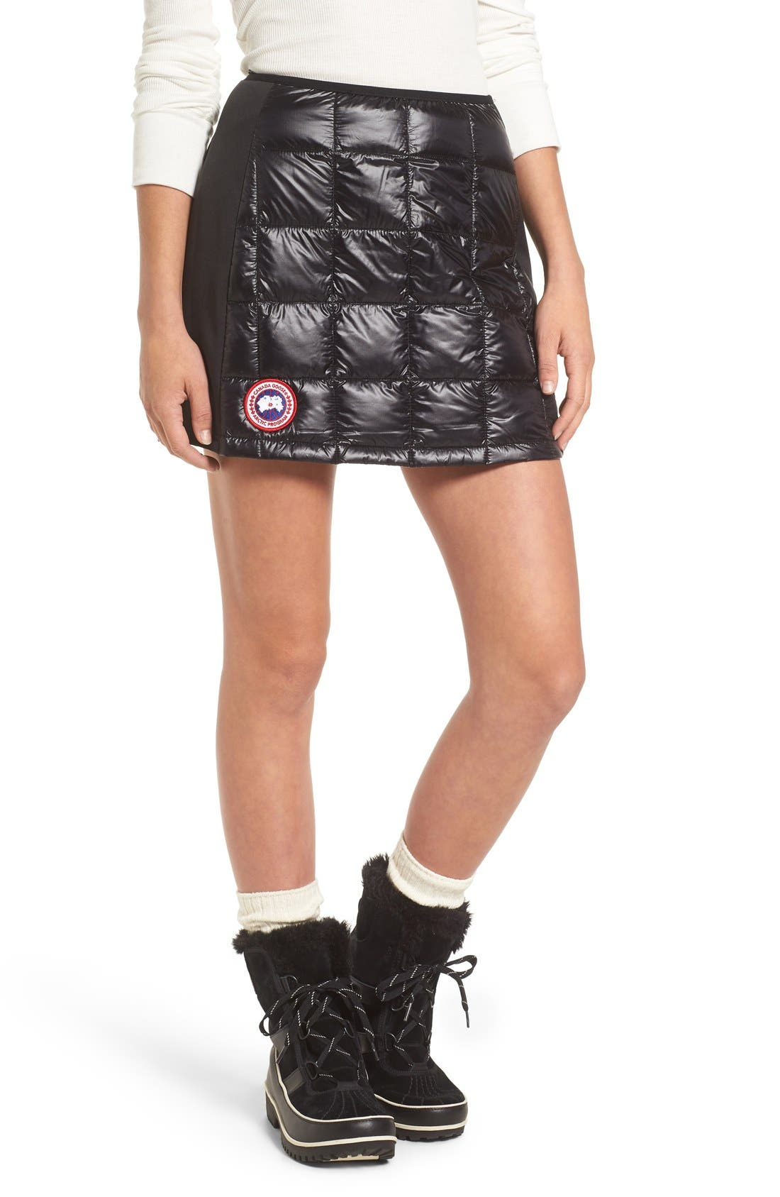 CANADA GOOSE 'Hybridge Lite' Quilted Goose Down Miniskirt