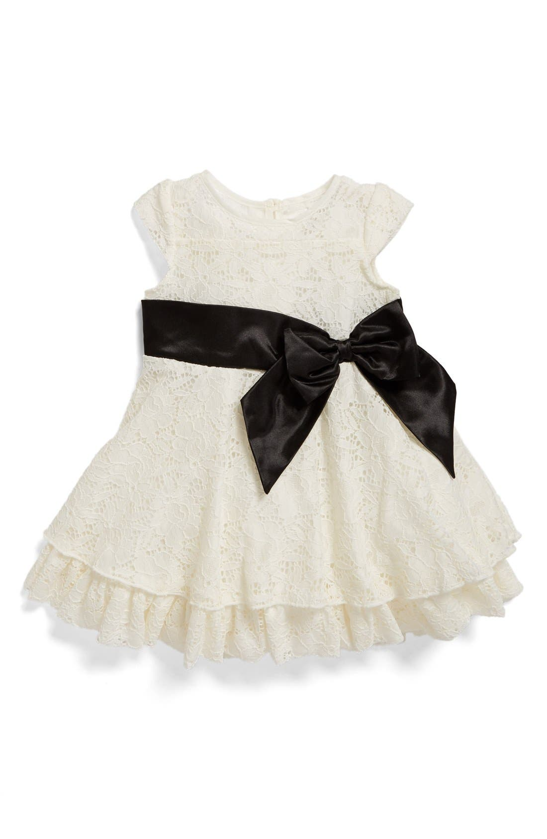 Us Angels Ruffle Lace Dress (Baby Girls)