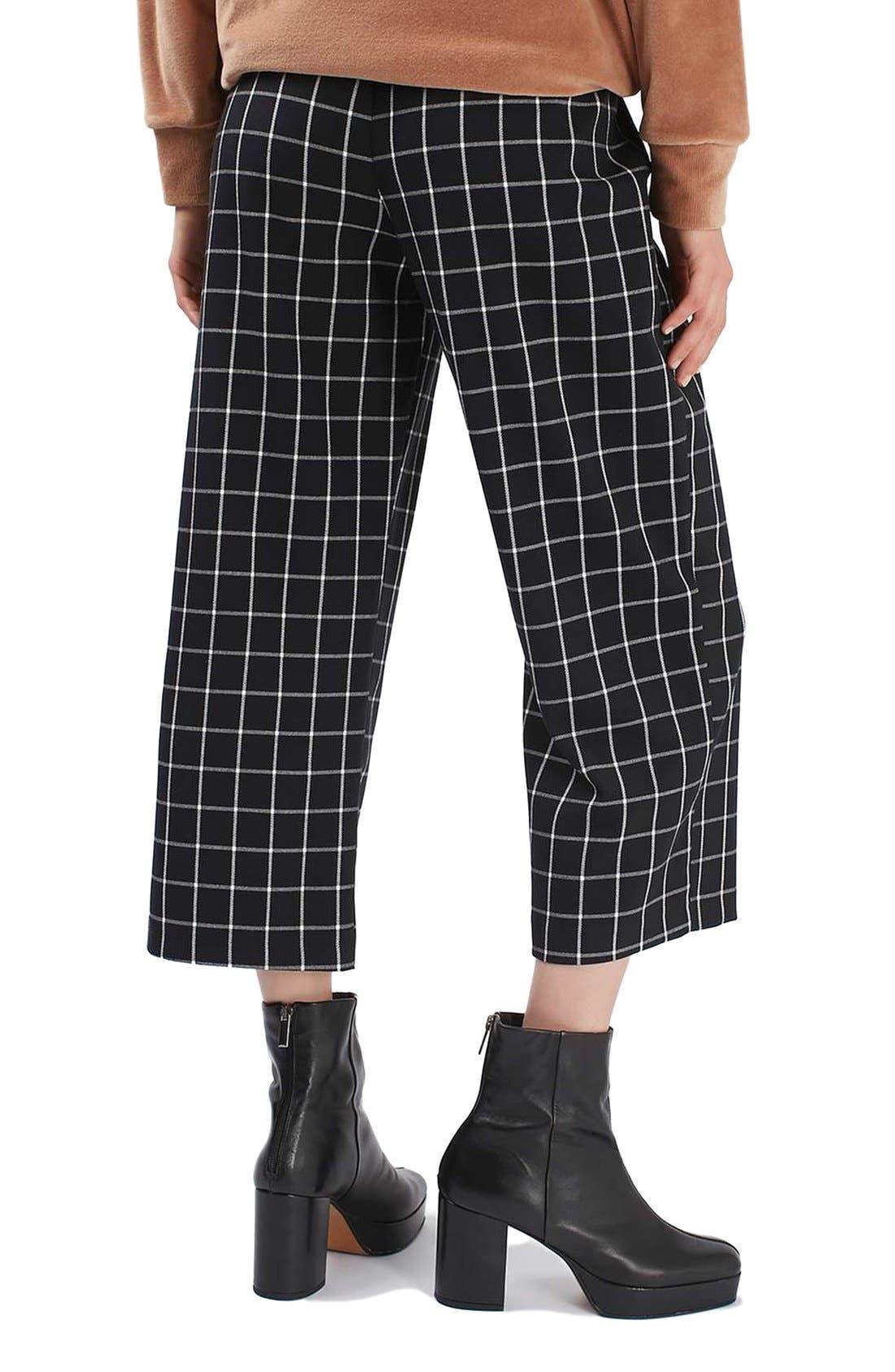 Alternate Image 3  - Topshop Windowpane Wide Leg Pants