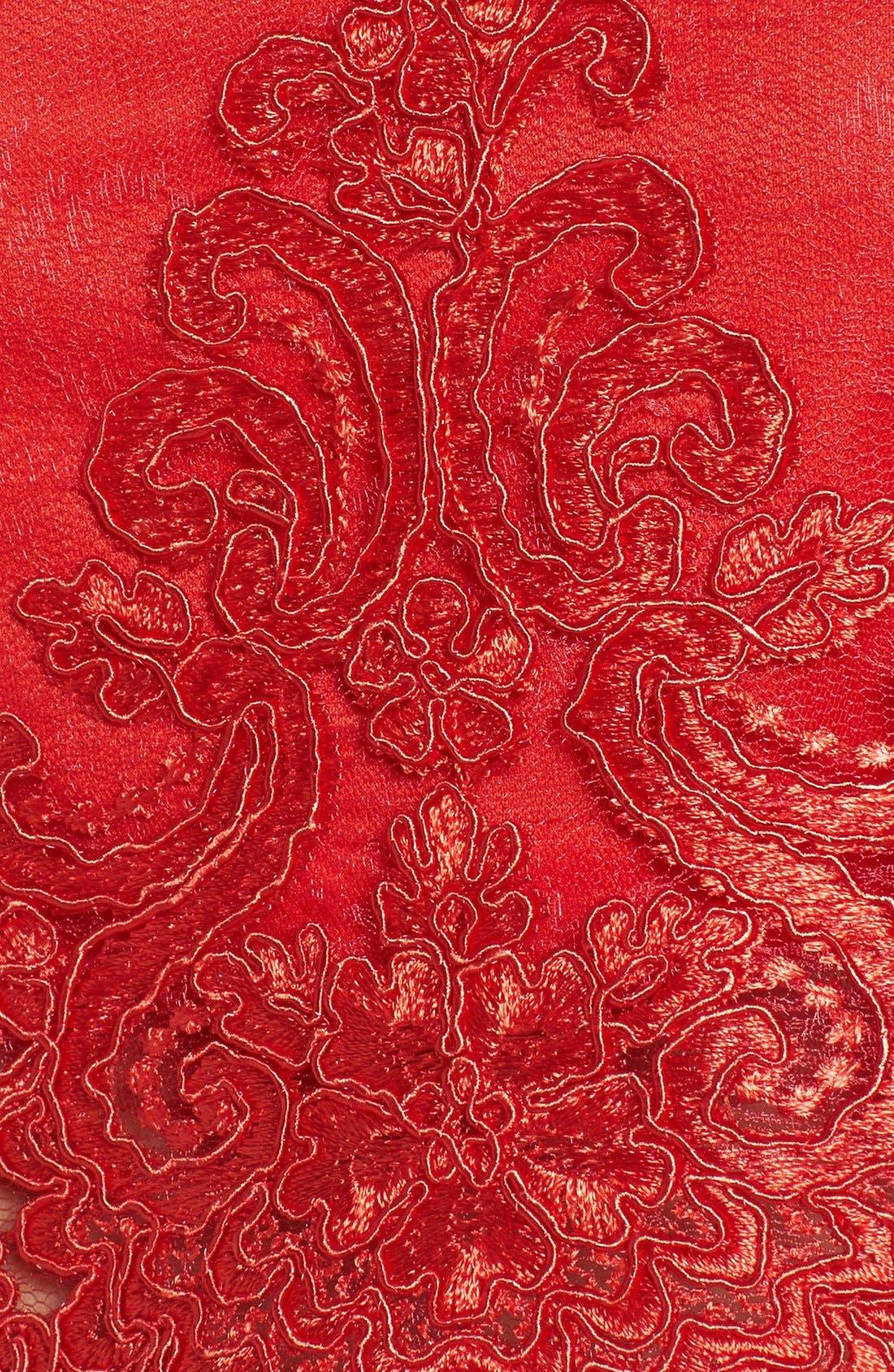 Alternate Image 5  - a. drea Lace Cap Sleeve Two-Piece Skater Dress