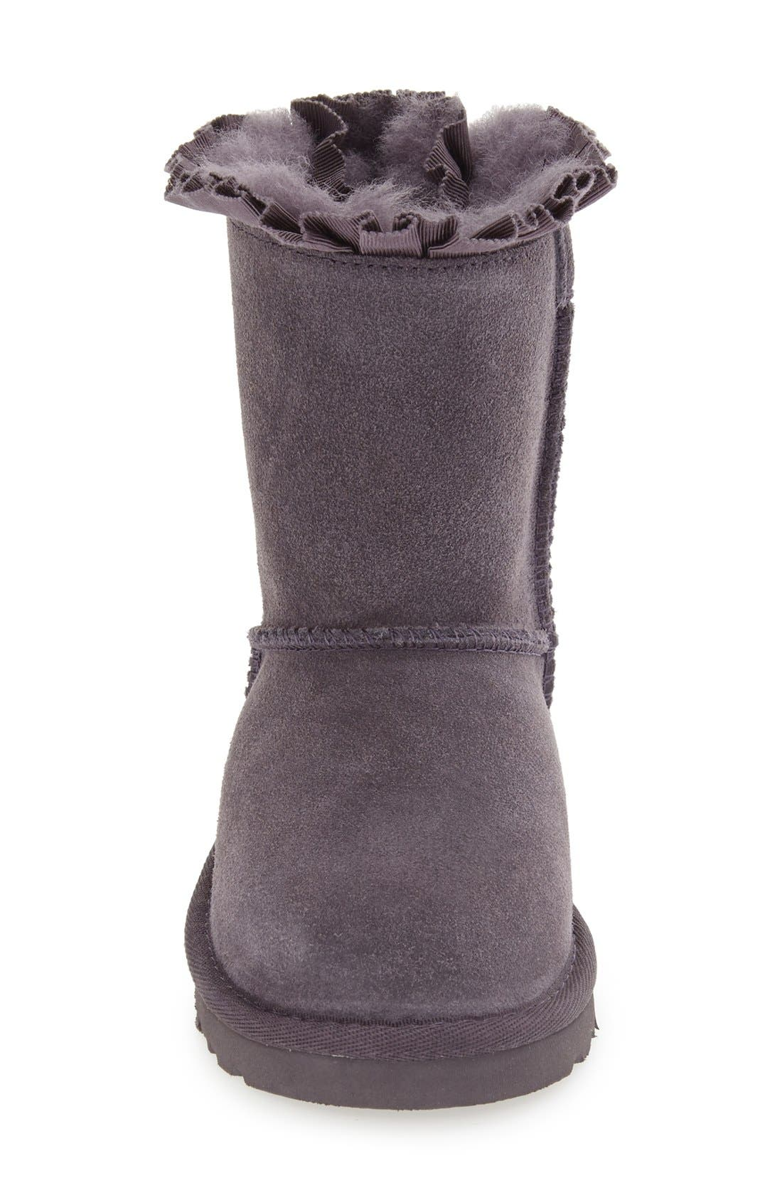 Alternate Image 3  - UGG® 'Bailey Bow Ruffles' Genuine Shearling Lined Boot (Walker, Toddler & Little Kid)