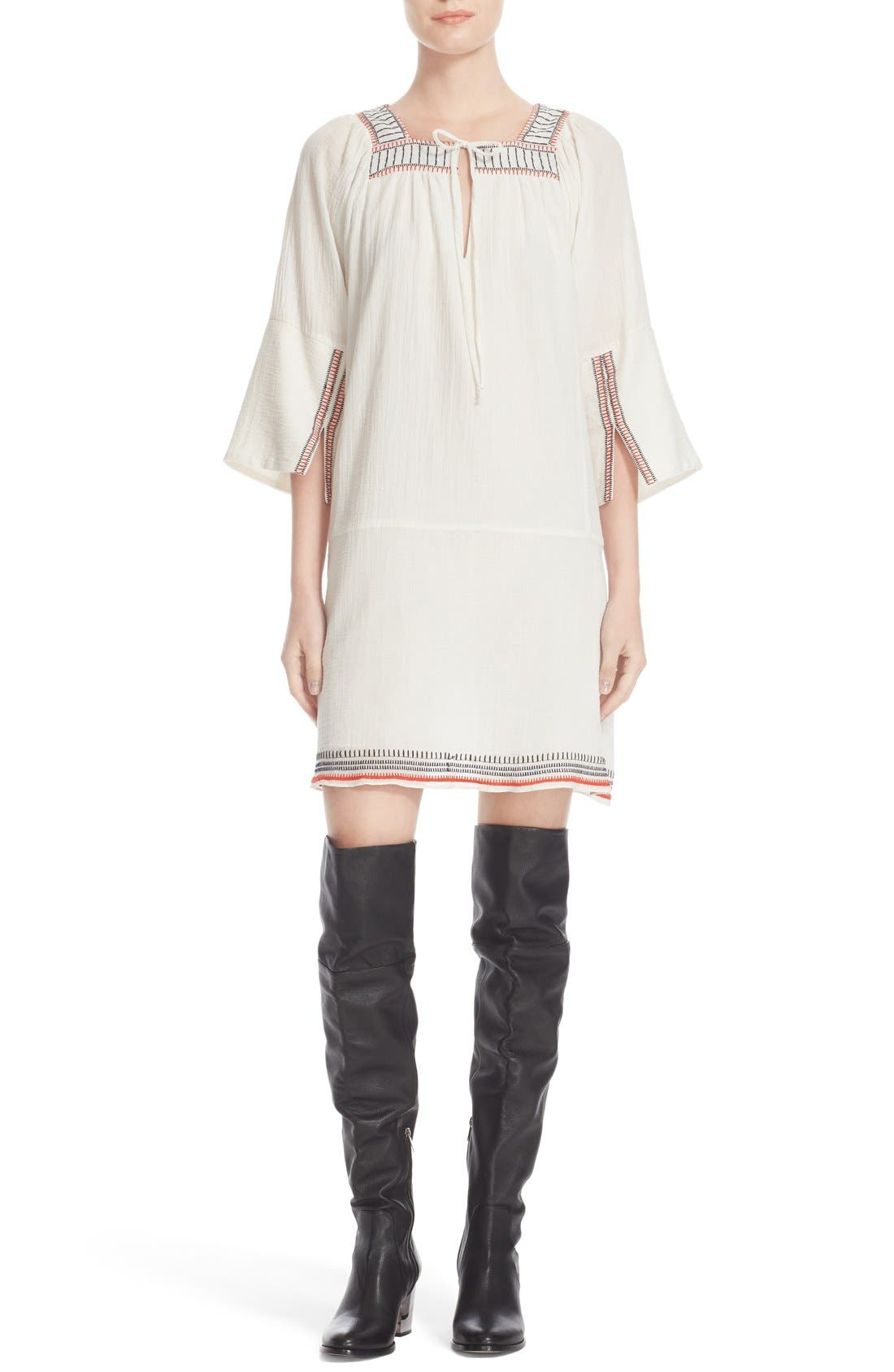 APIECE APART Nueva Tewa Embroidered Cotton Dress