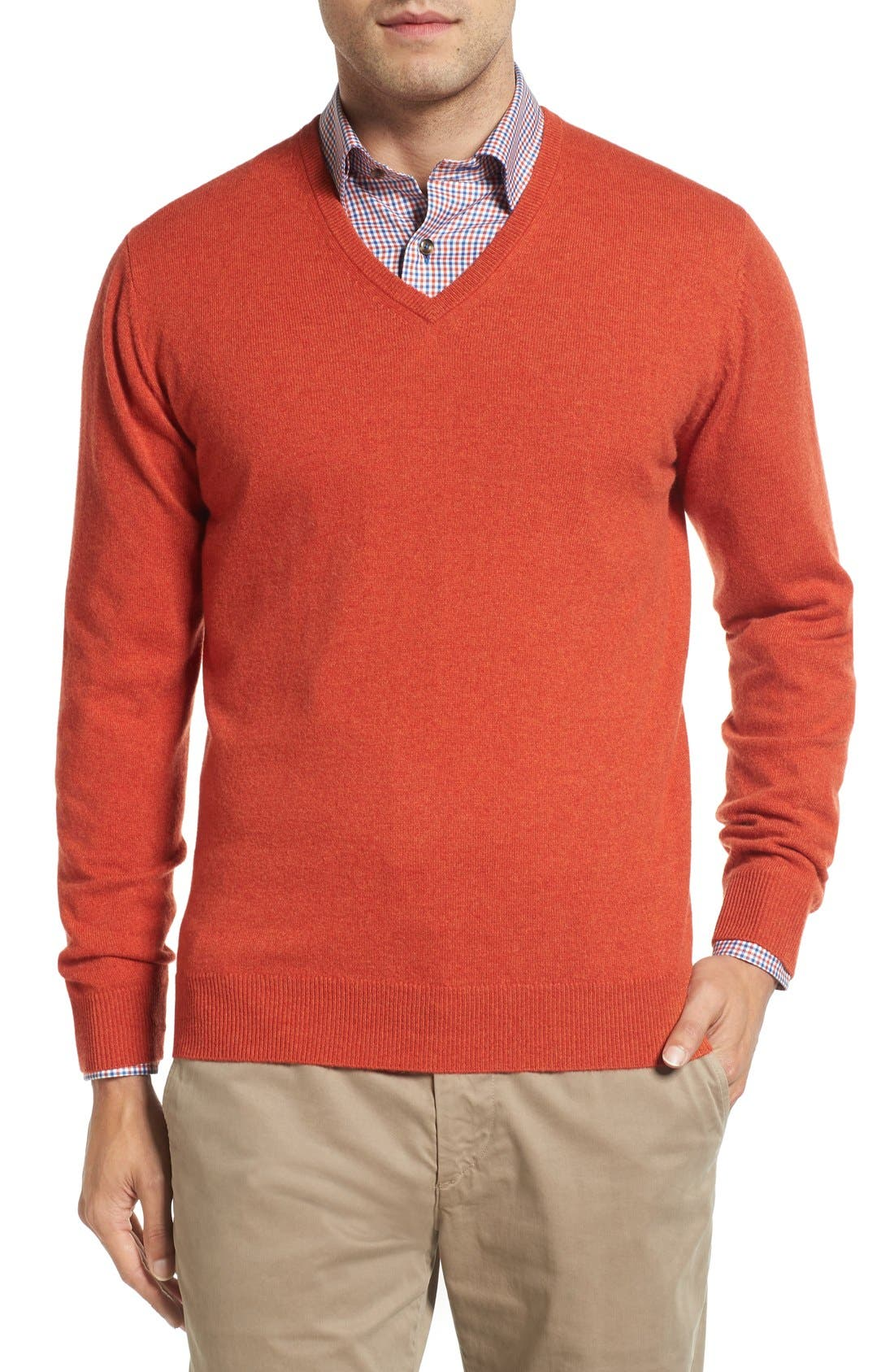 David Donahue Cashmere V-Neck Sweater