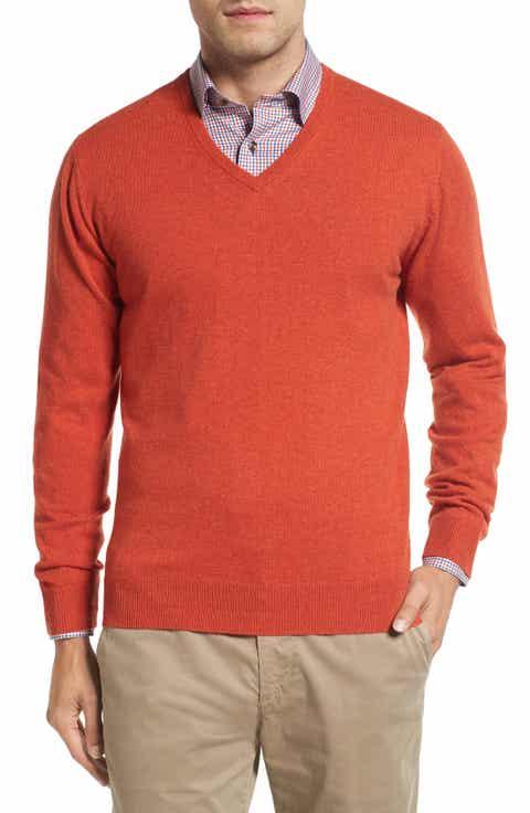 David Donahue Cashmere V-Neck Sweater