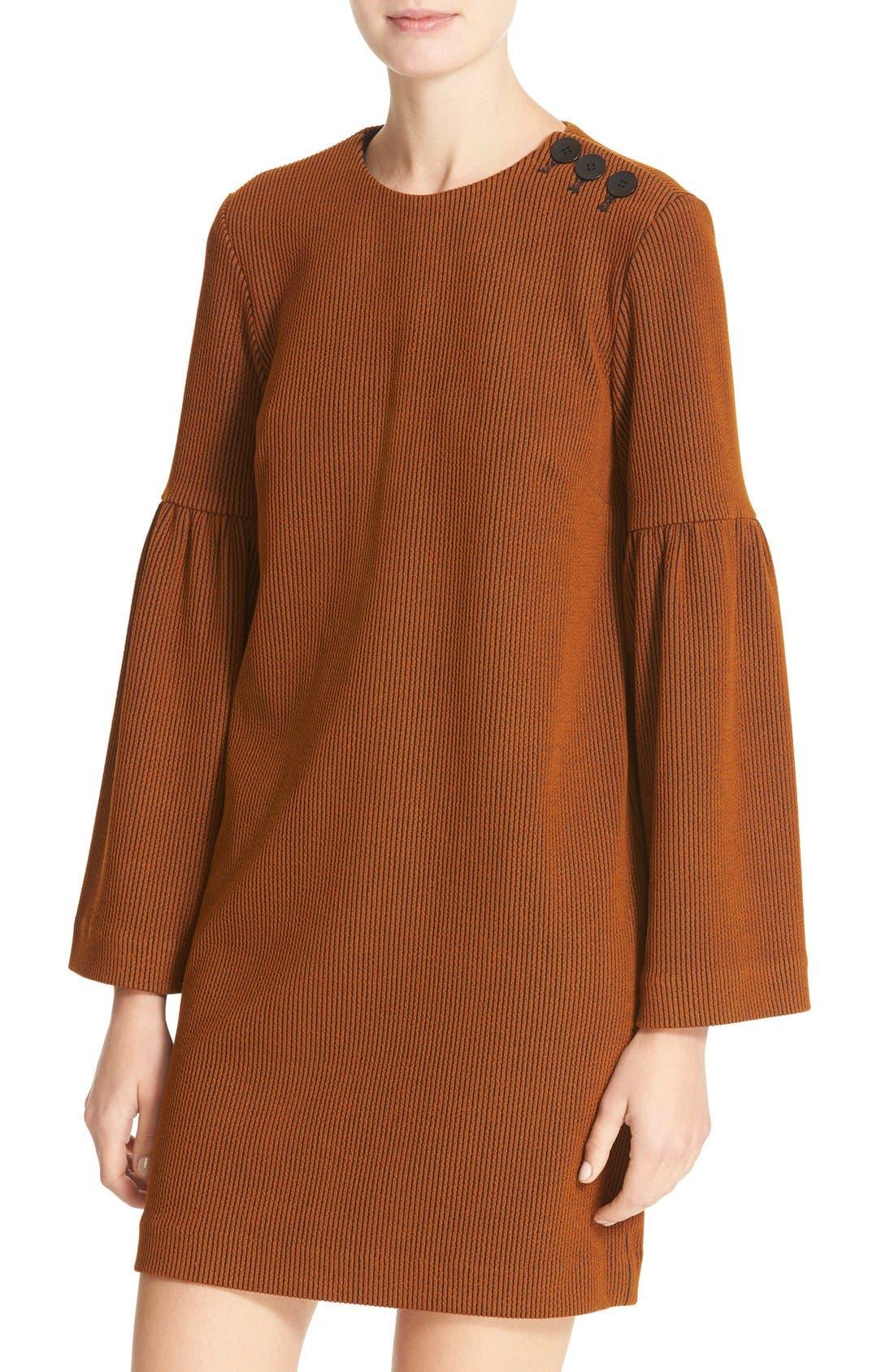 Alternate Image 4  - Tibi Stripe Texture Knit Bell Sleeve Dress