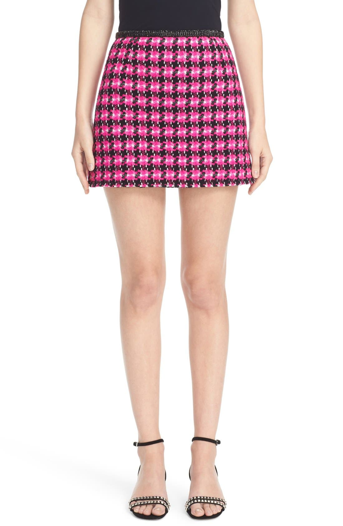 MARC JACOBS Geo Tweed Miniskirt