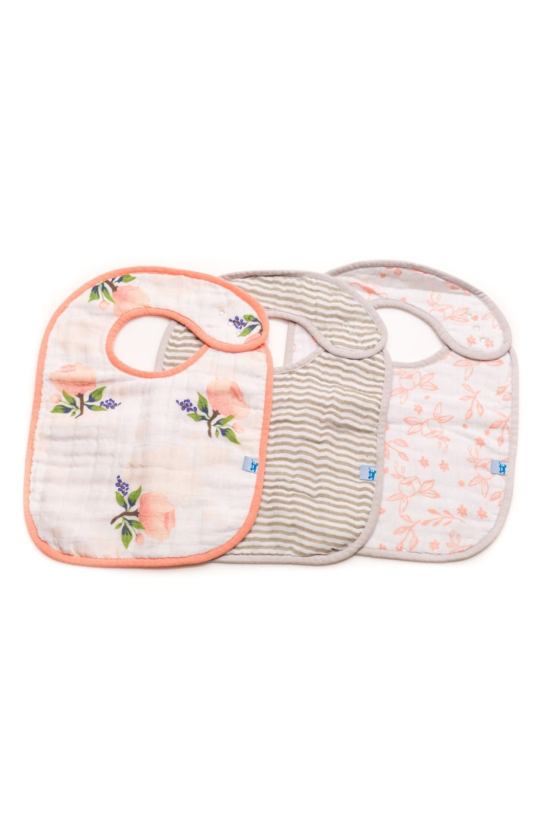 little unicorn 3-Pack Classic Cotton Muslin Bibs