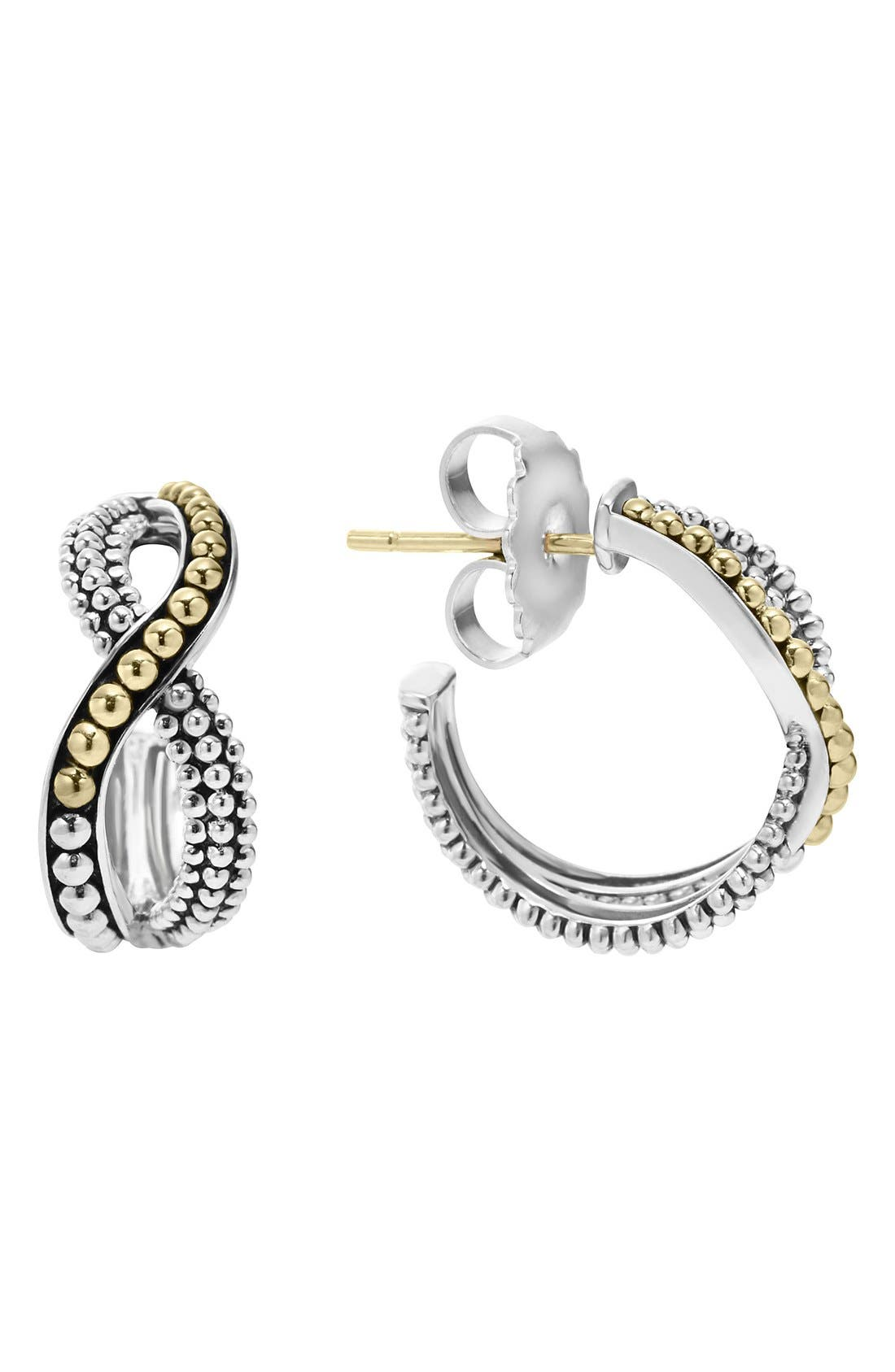 LAGOS Infinity Double Twist Hoop Earrings