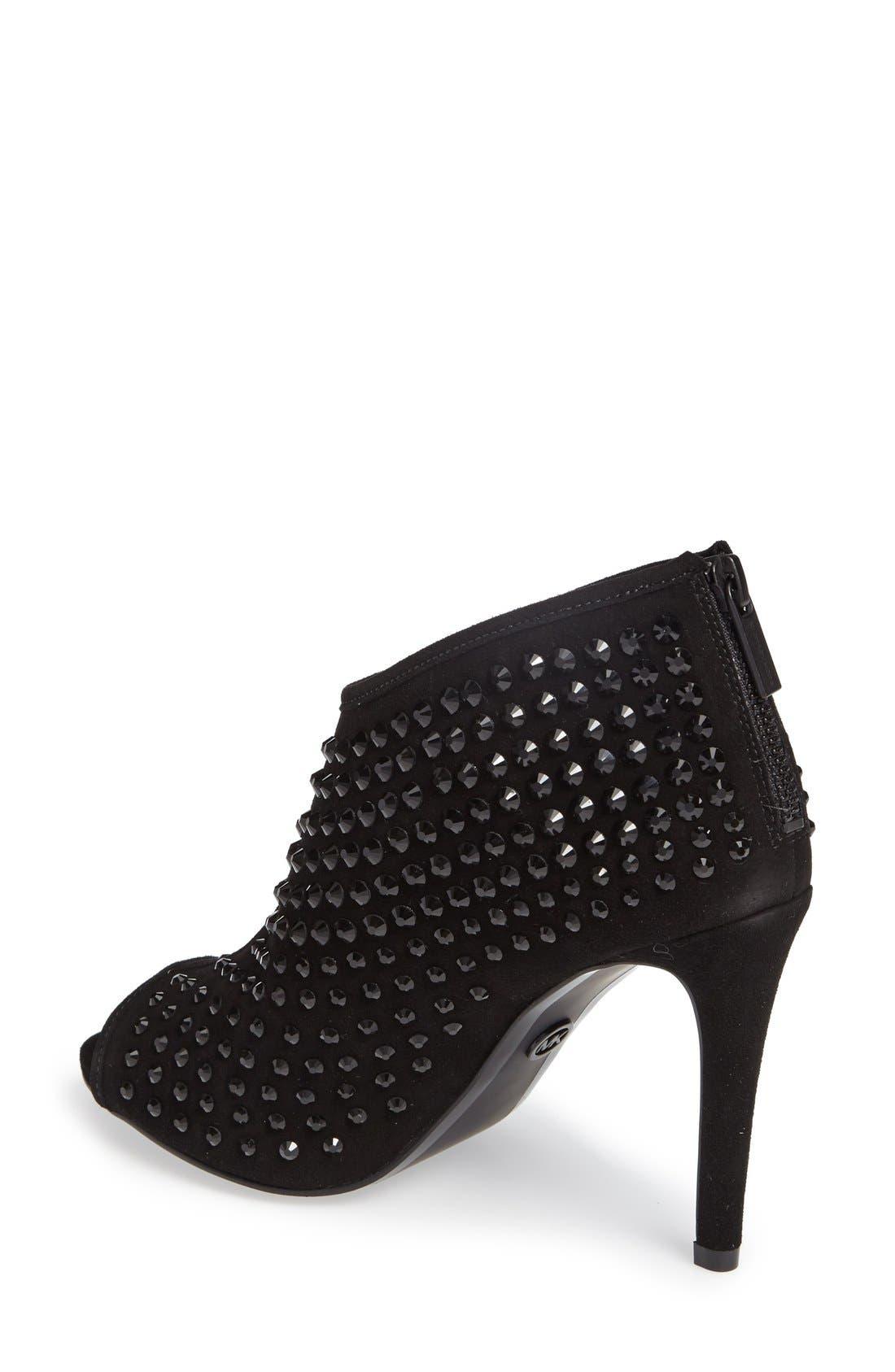 Alternate Image 2  - MICHAEL Michael Kors Dani Crystal Embellished Open Toe Bootie (Women)