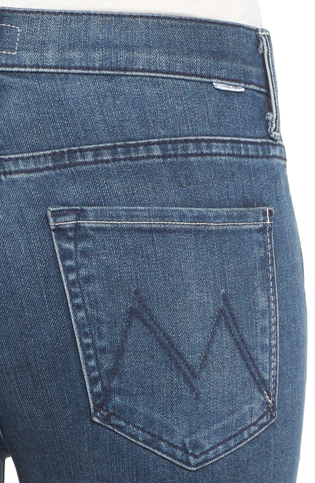 Alternate Image 4  - MOTHER The Insider High Rise Crop Bootcut Jeans (Repeating Love)