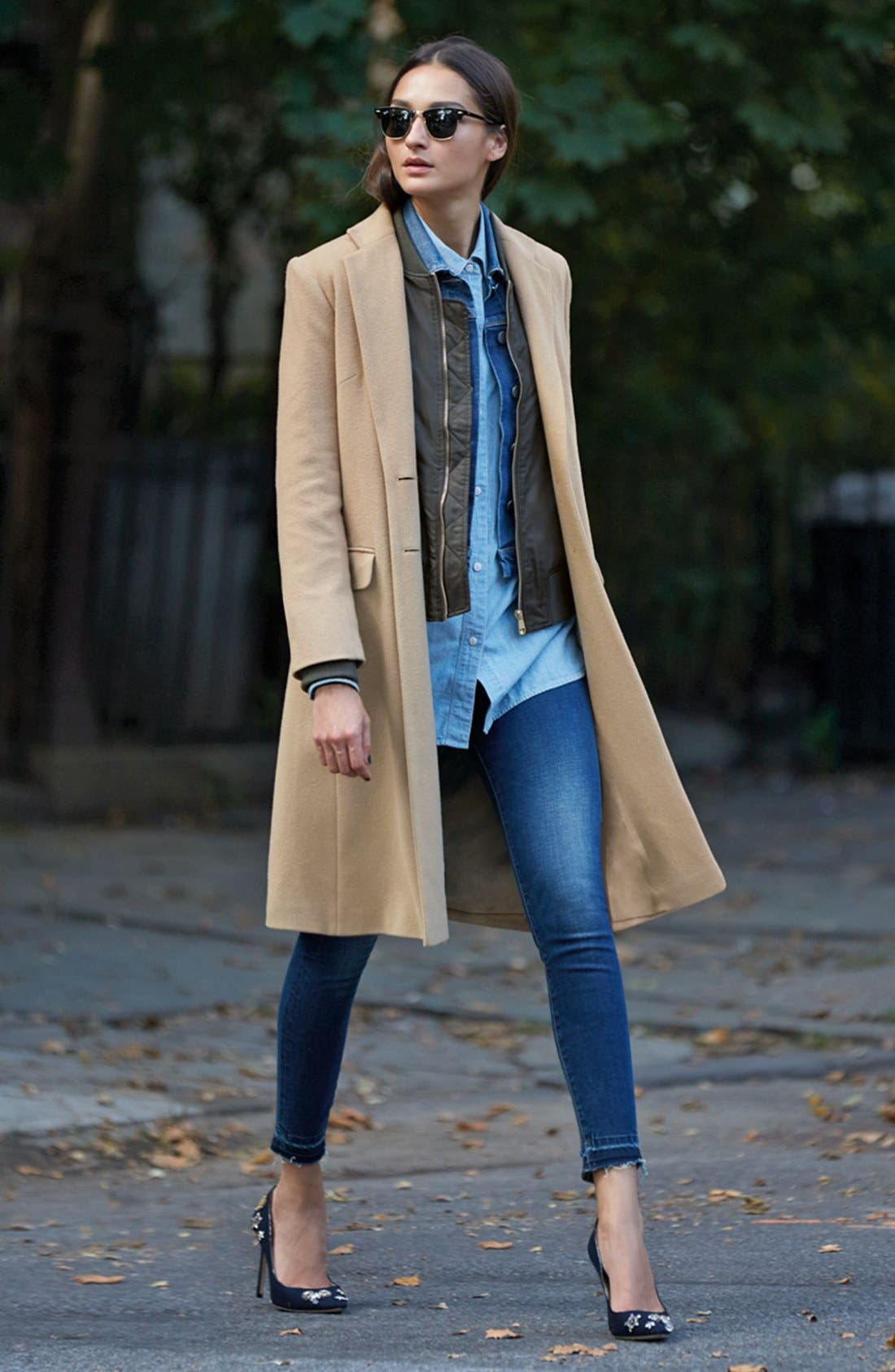 Alternate Image 6  - Helene Berman Wool Blend College Coat