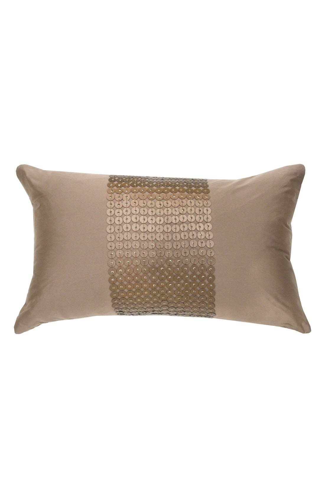 CATHERINE MALANDRINO Metallic Accent Pillow
