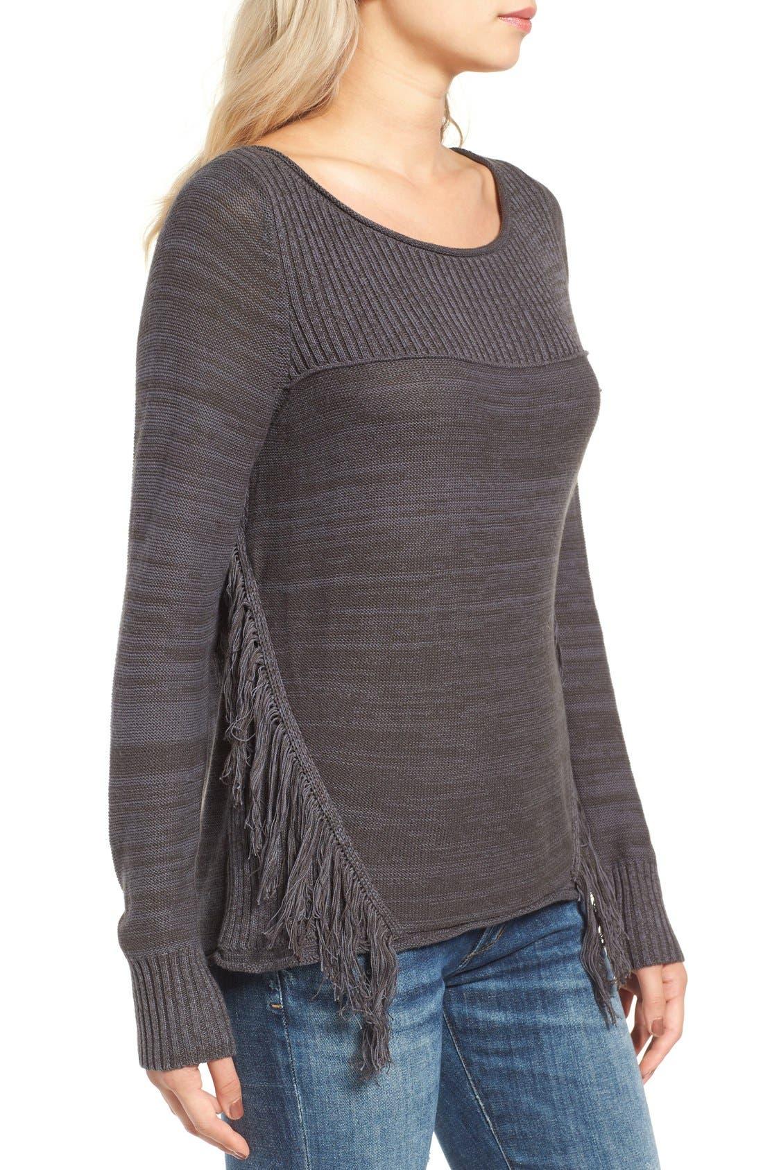 Alternate Image 3  - Rip Curl Hudson Fringe Knit Pullover