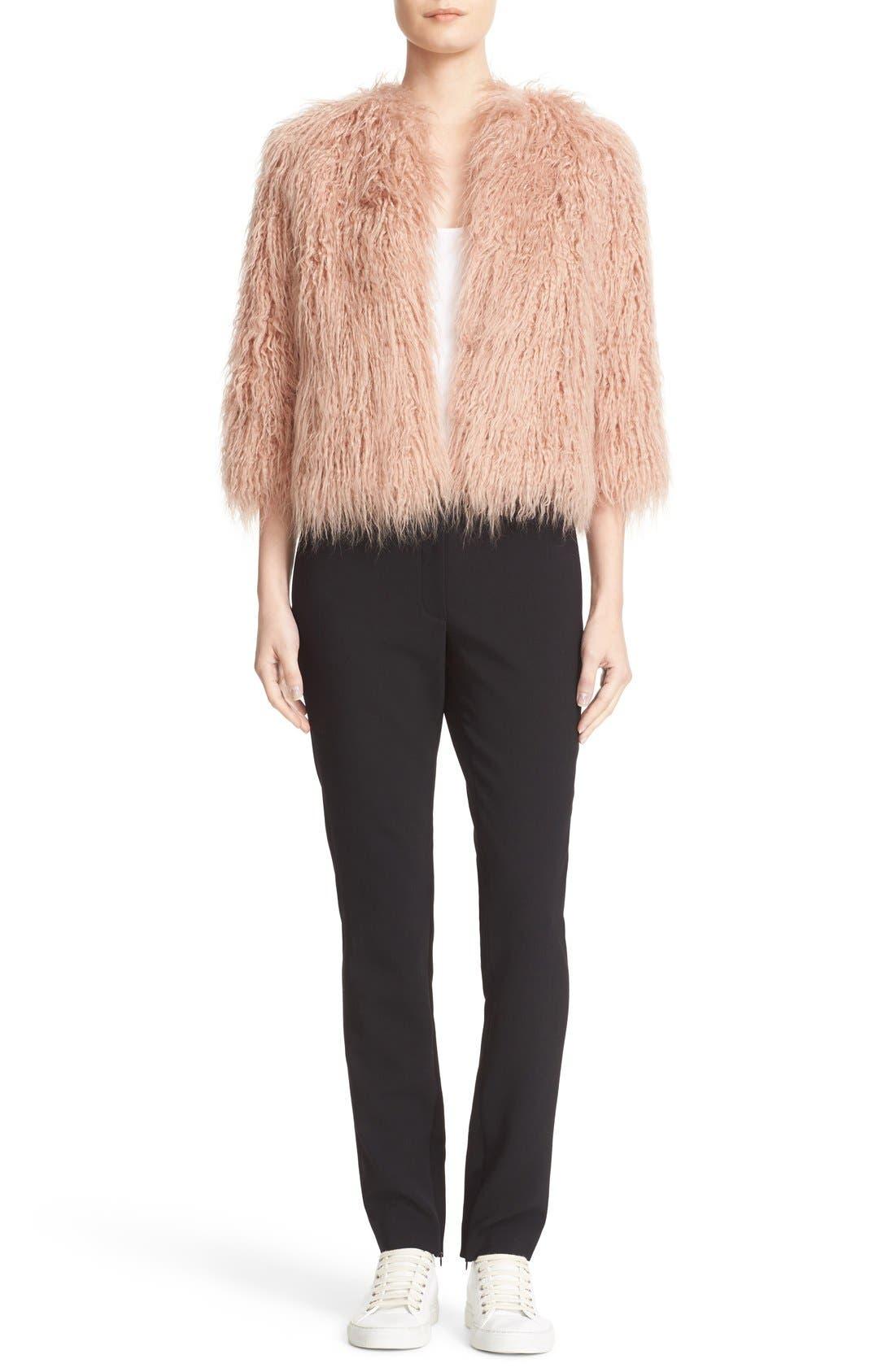 Alternate Image 2  - Theory Elstana 2 Faux Fur Crop Jacket