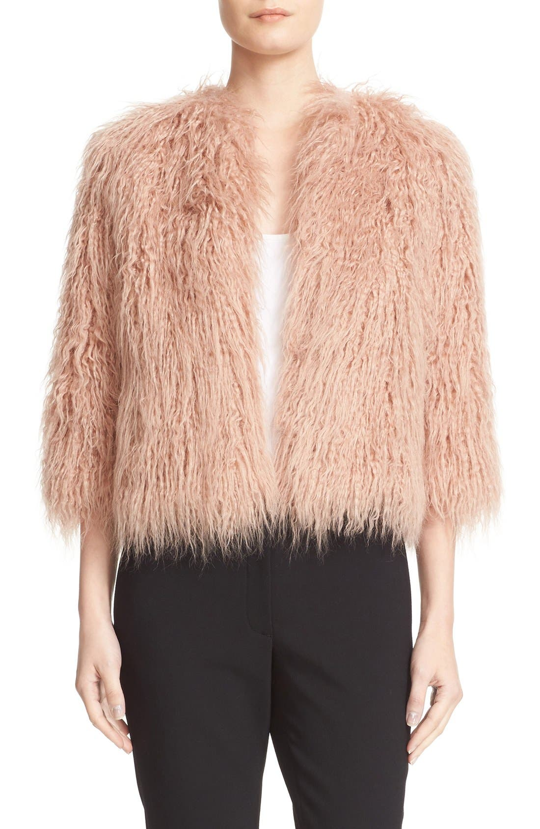 Main Image - Theory Elstana 2 Faux Fur Crop Jacket