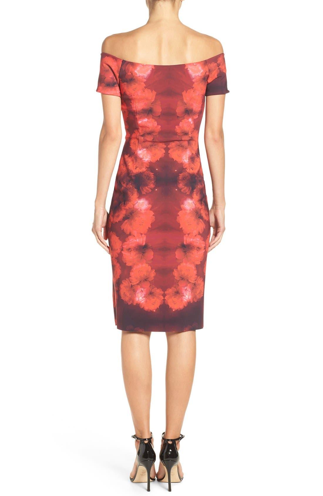Alternate Image 2  - Chiara Boni La Petite Robe Lyris Print Sheath Dress